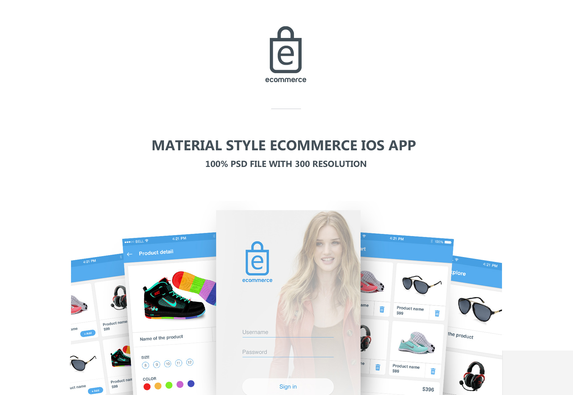 ECommerce Material Style UI Kit