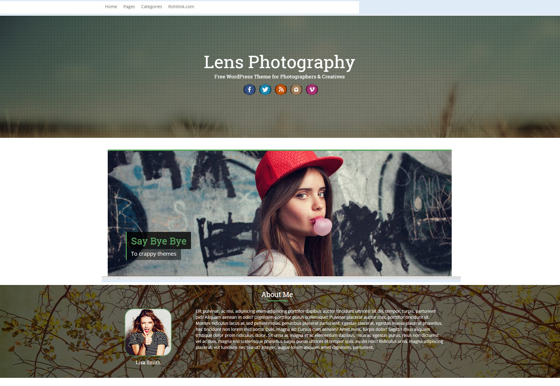 Lens: Professional Photography WordPress Theme
