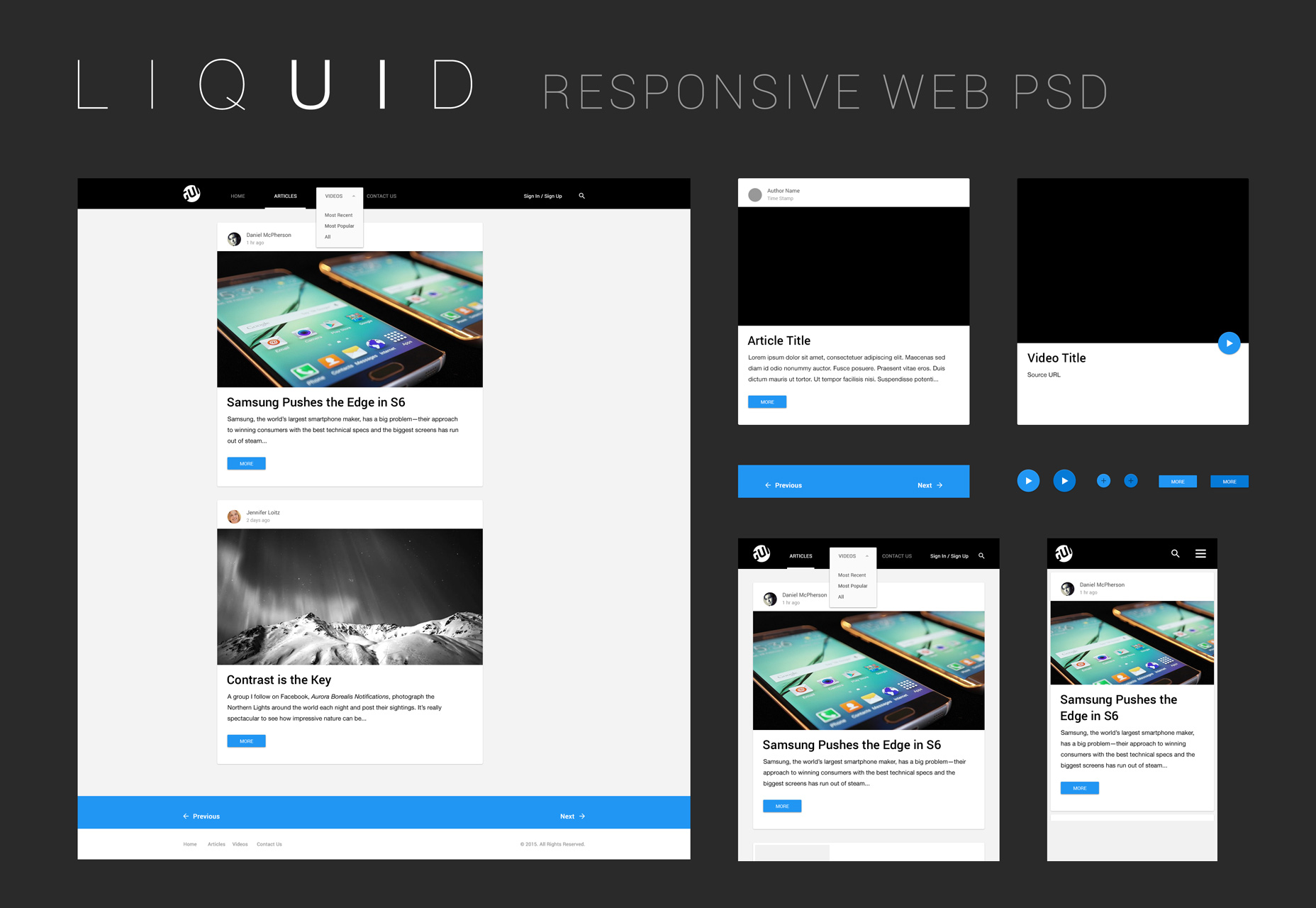 Liquid: A Clean PSD Web UI Kit