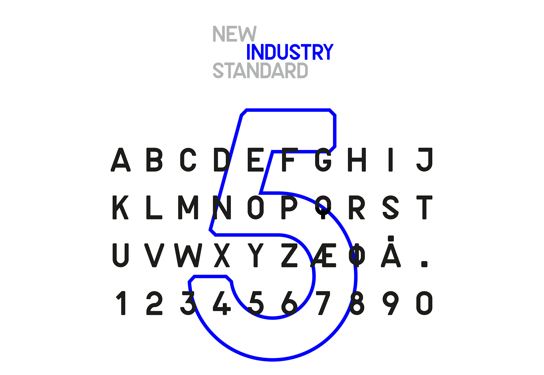 New Industry: Technical Looking Typeface