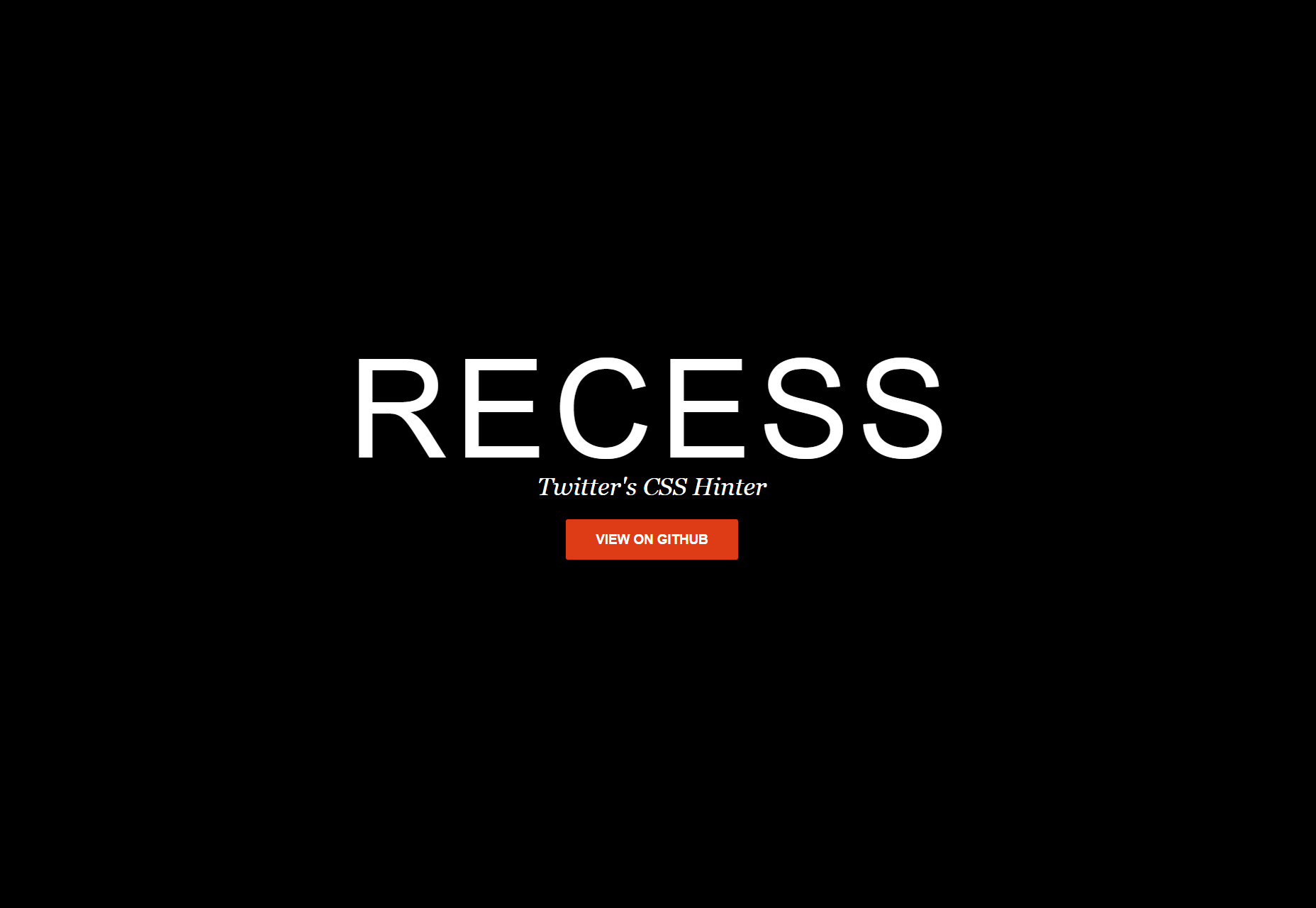 Recess: Less-based Code Quality Tool