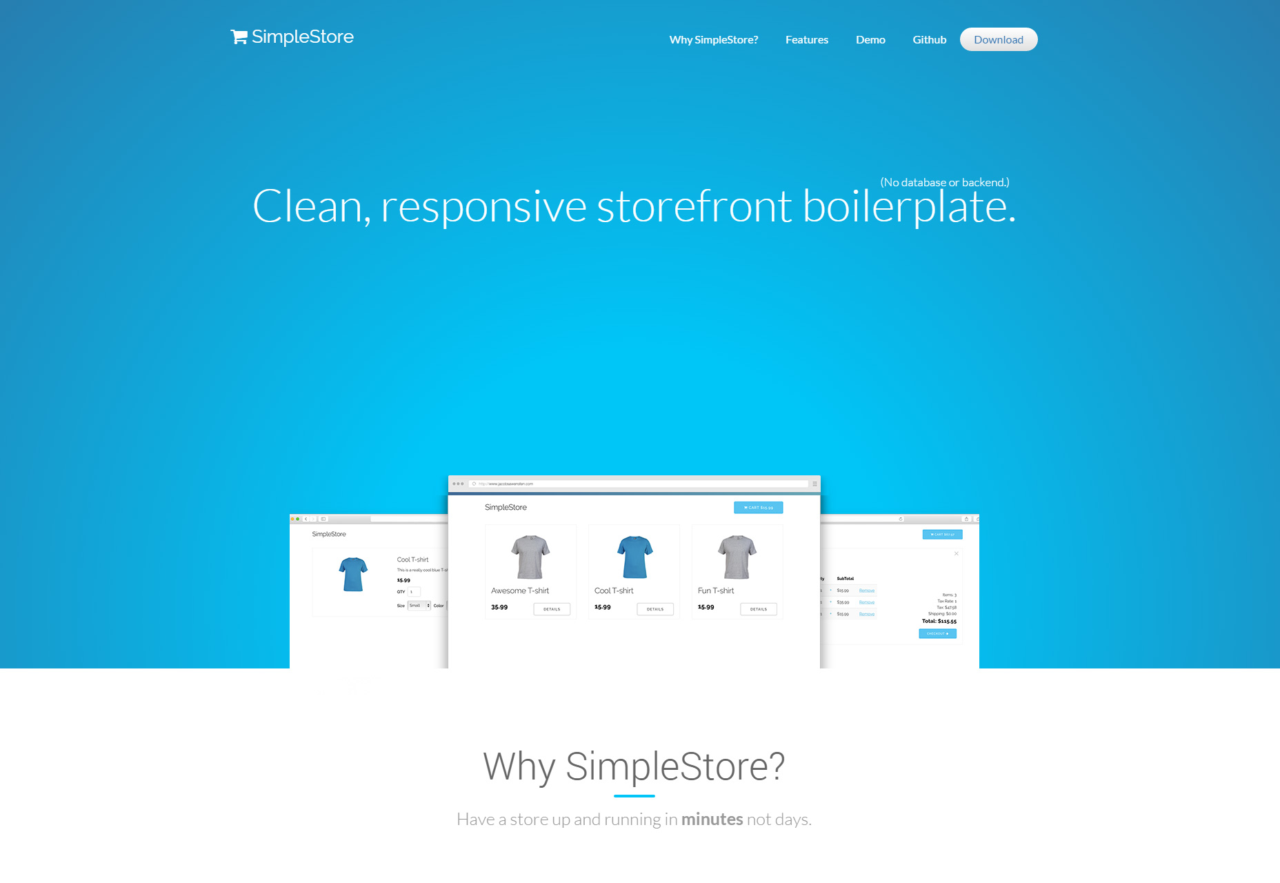 SimpleStore: Clean & Responsive ECommerce Boilerplate