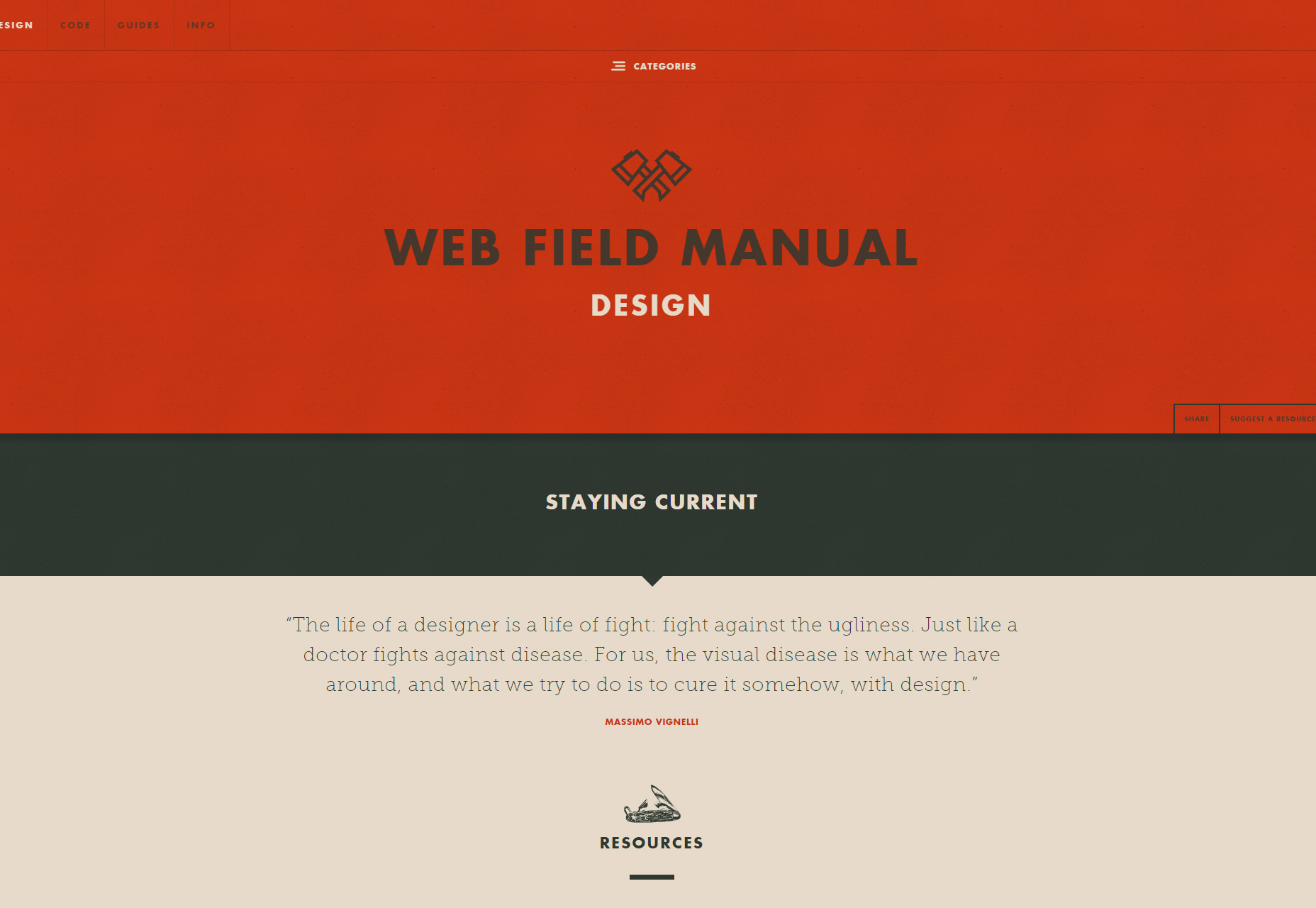 Web Field Manual: A Curated Documenting-focused UX Design Resources List
