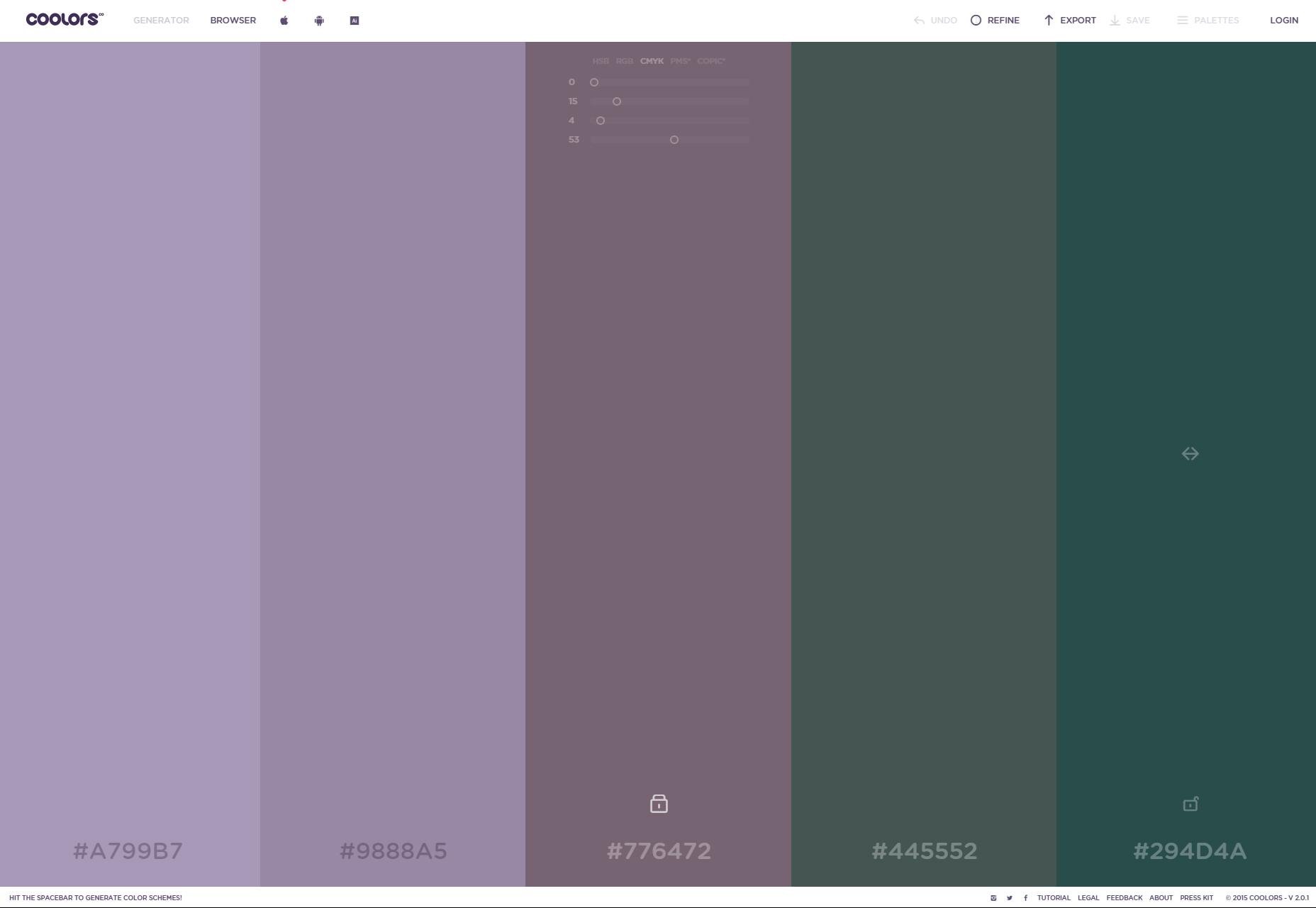 Coolors: Versatile Color Scheme Generator