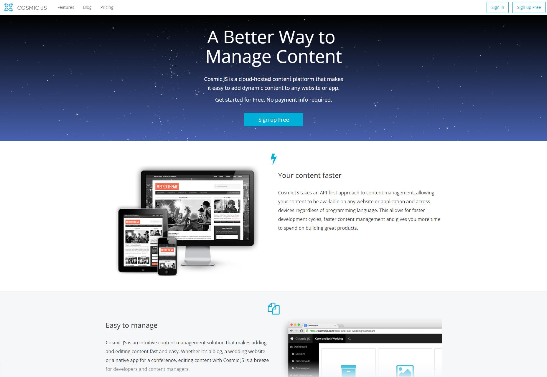 CosmicJS: Cloud-Hosted Content Management Platform