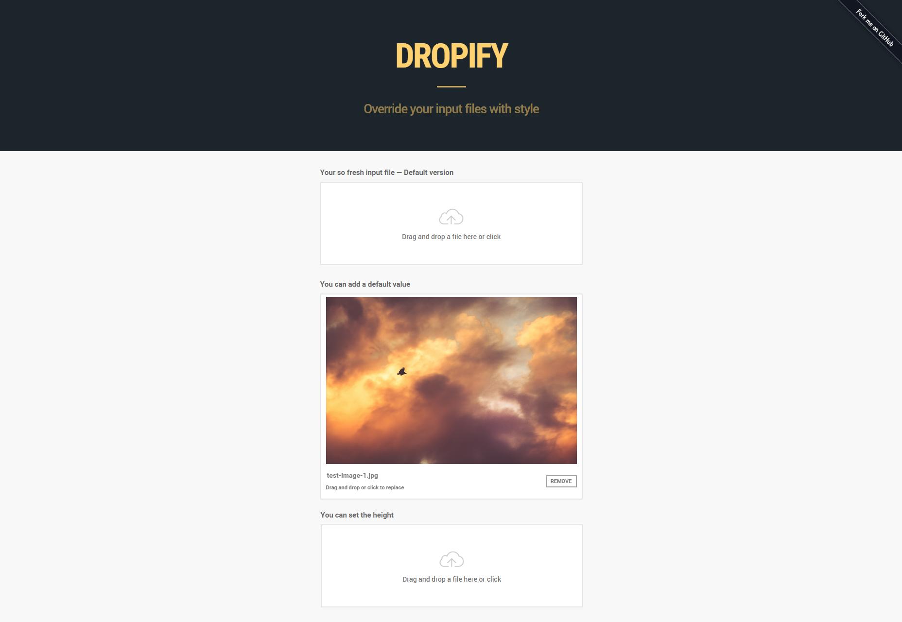 Dropify: Input Files JQuery Plugin