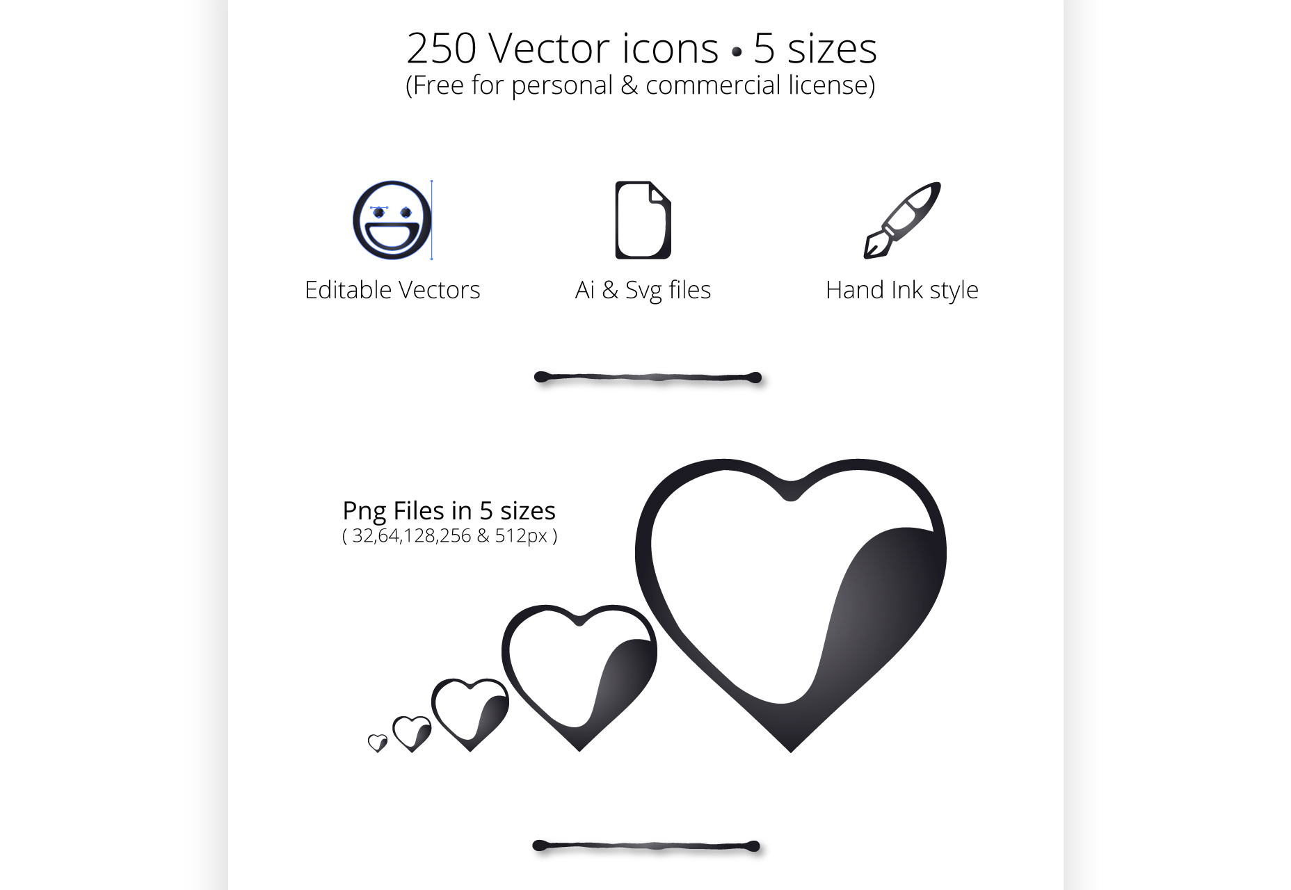 Inkallicons: Vector Ink Line Icons
