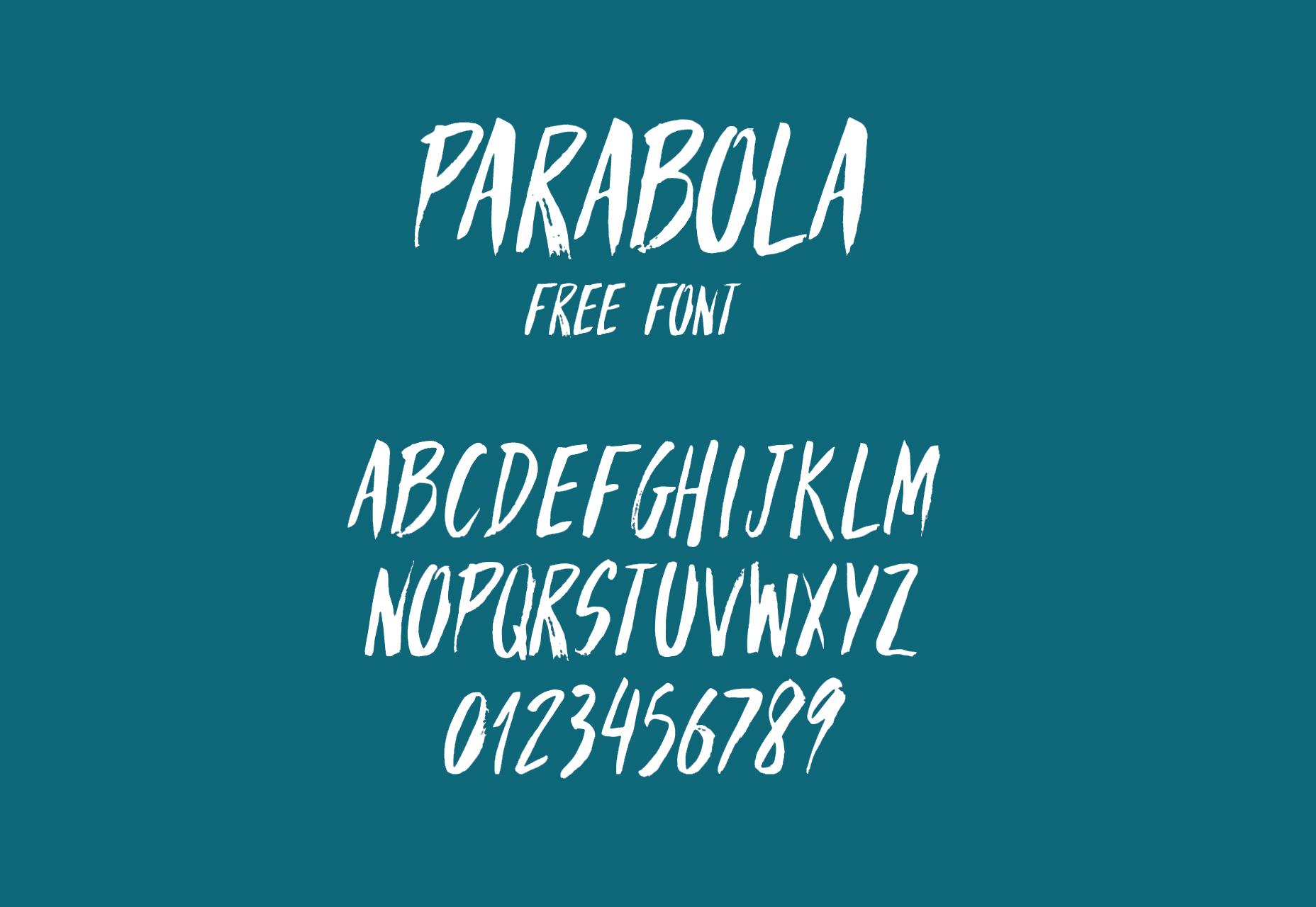 Parabola: Brush Hand-written Style Font