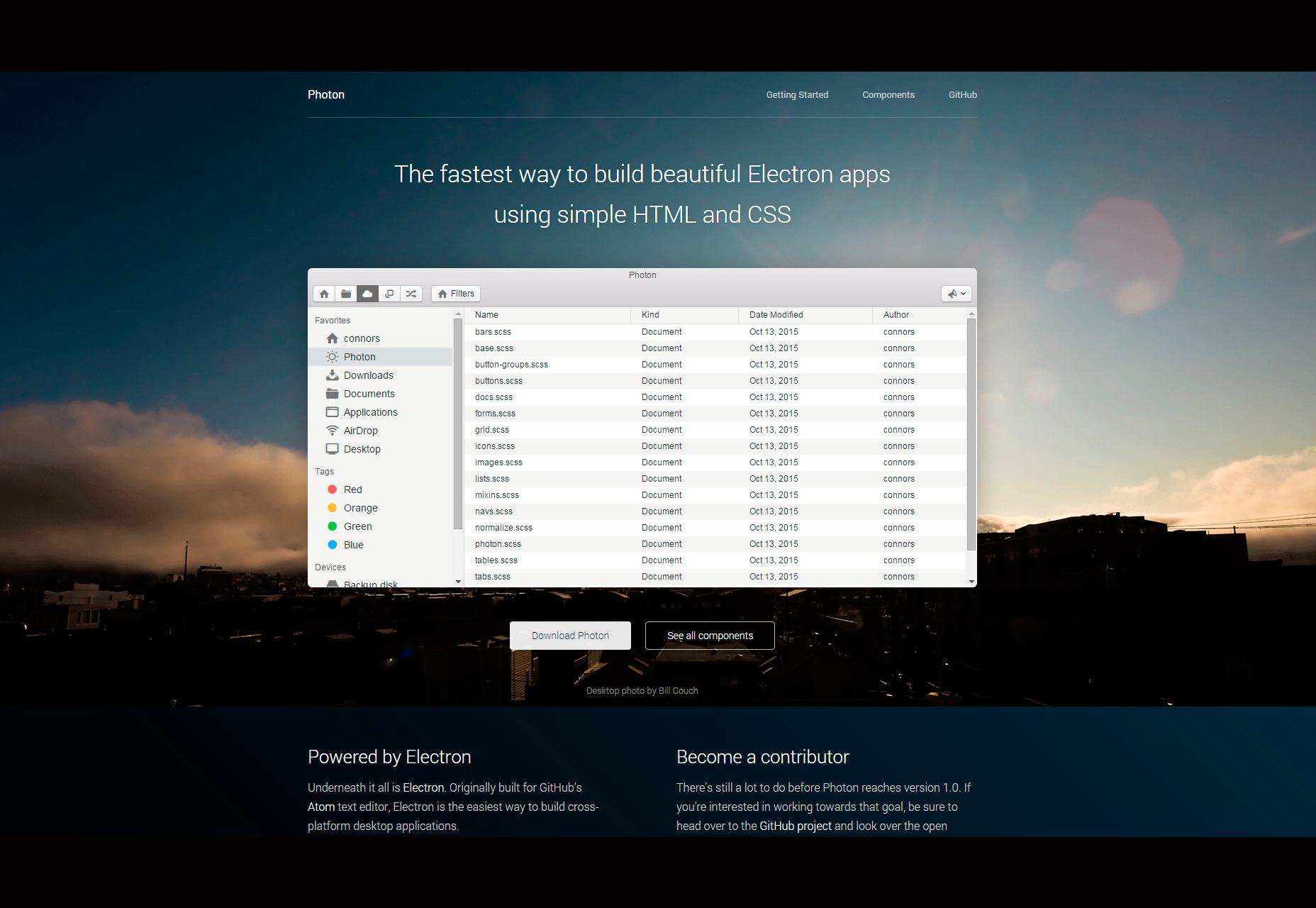Photon: An Electron Apps UI Toolkit