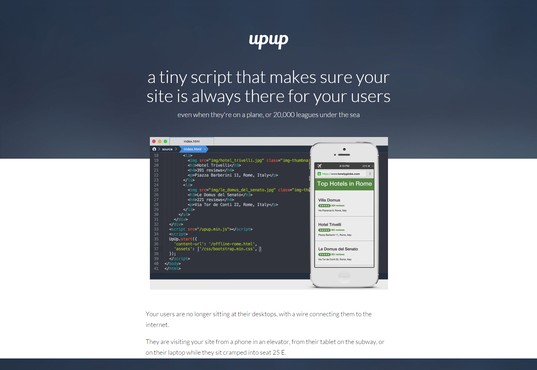 UpUp: Offline Navigating Library
