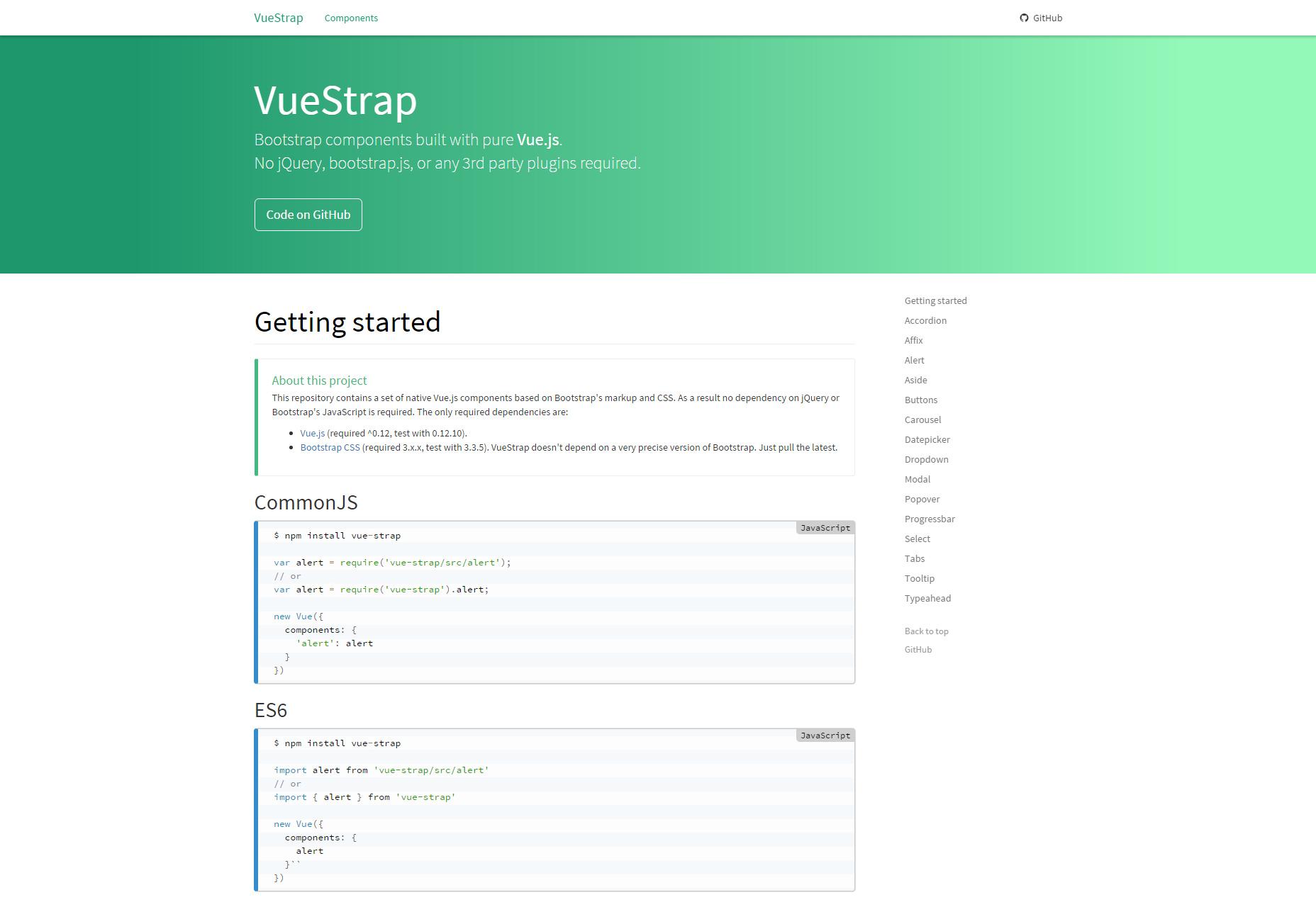 VueStrap.js: JavaScript Bootstrap Components