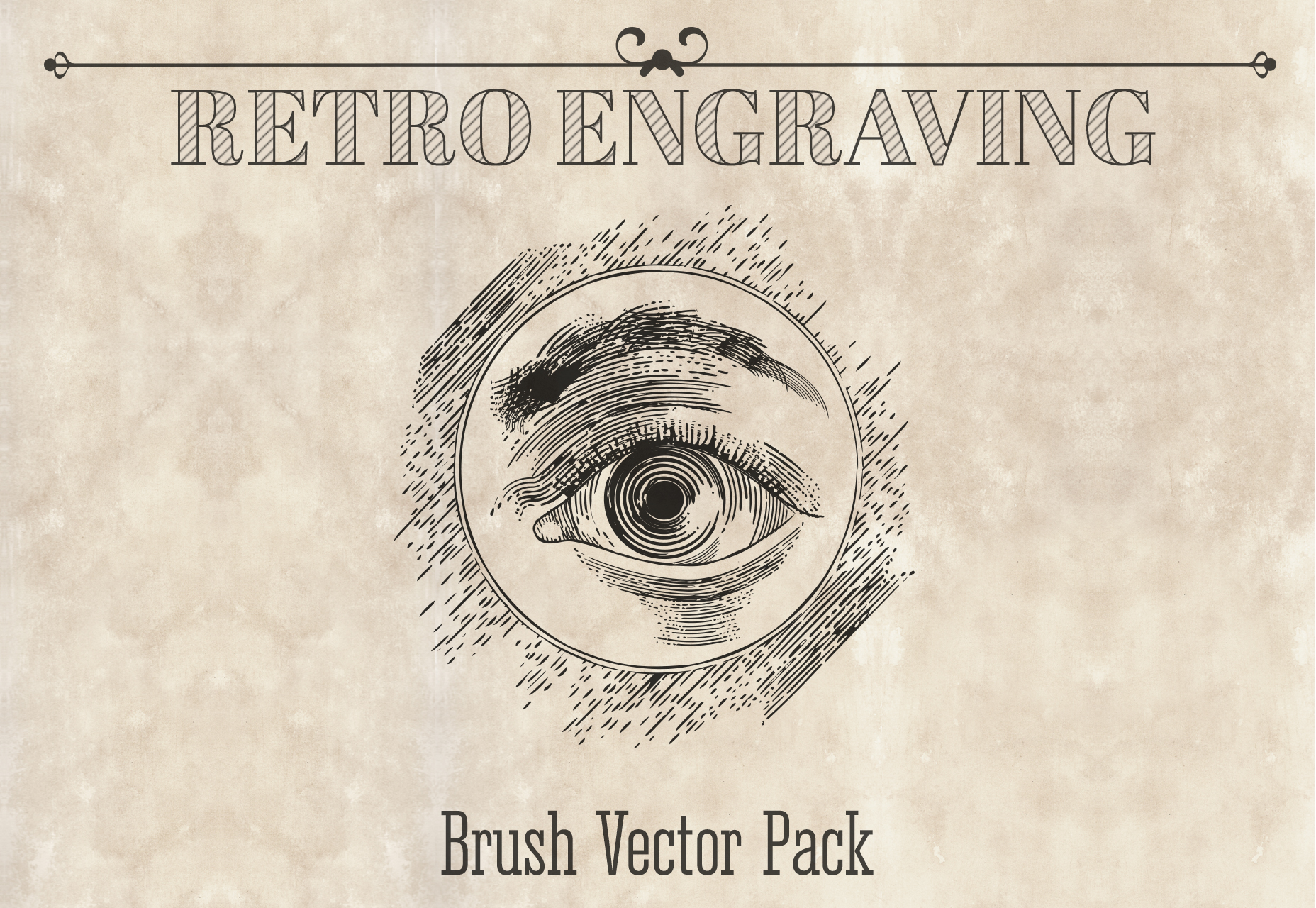110 Vintage Engraving Style Brushes Pack