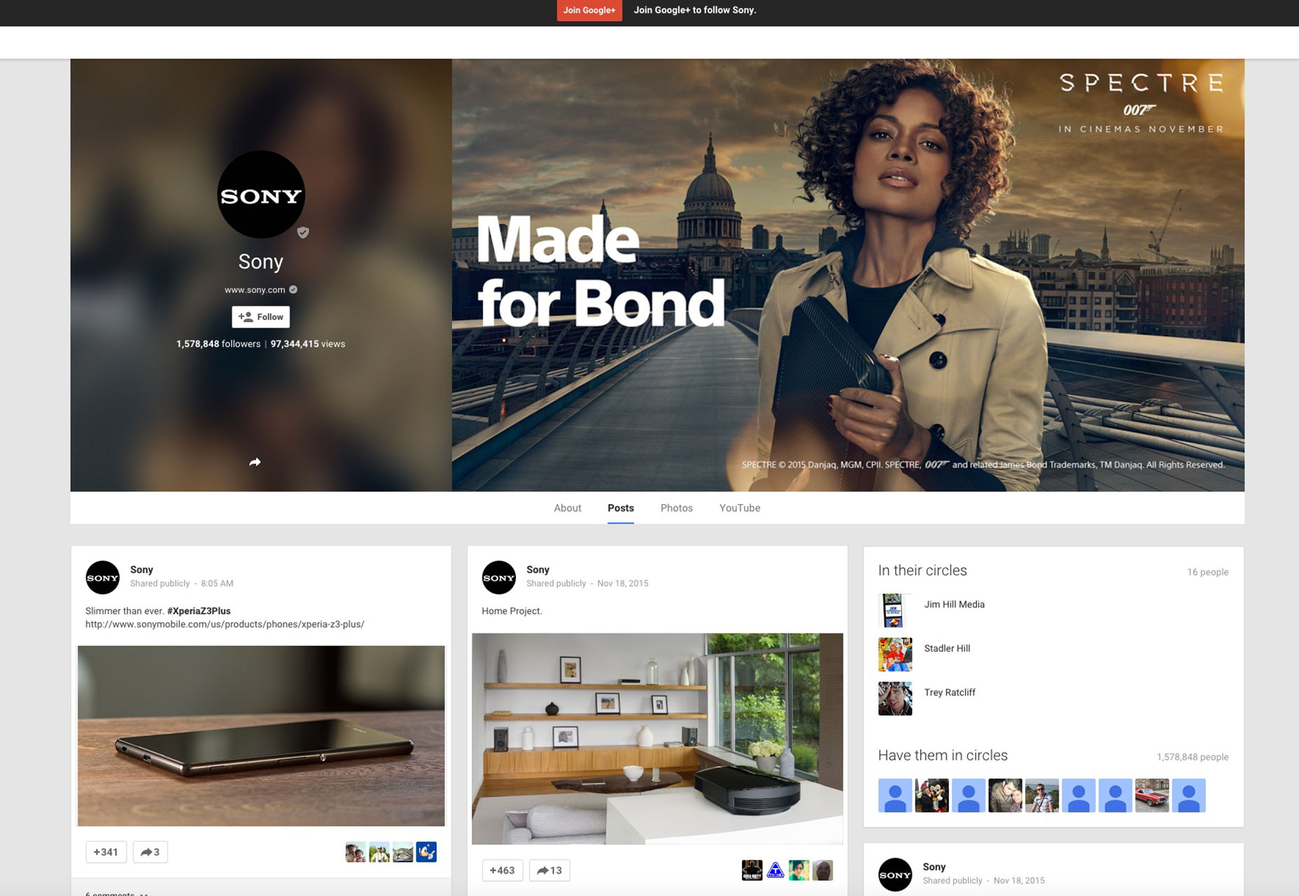 Sony-Google-Plus-Screenshot