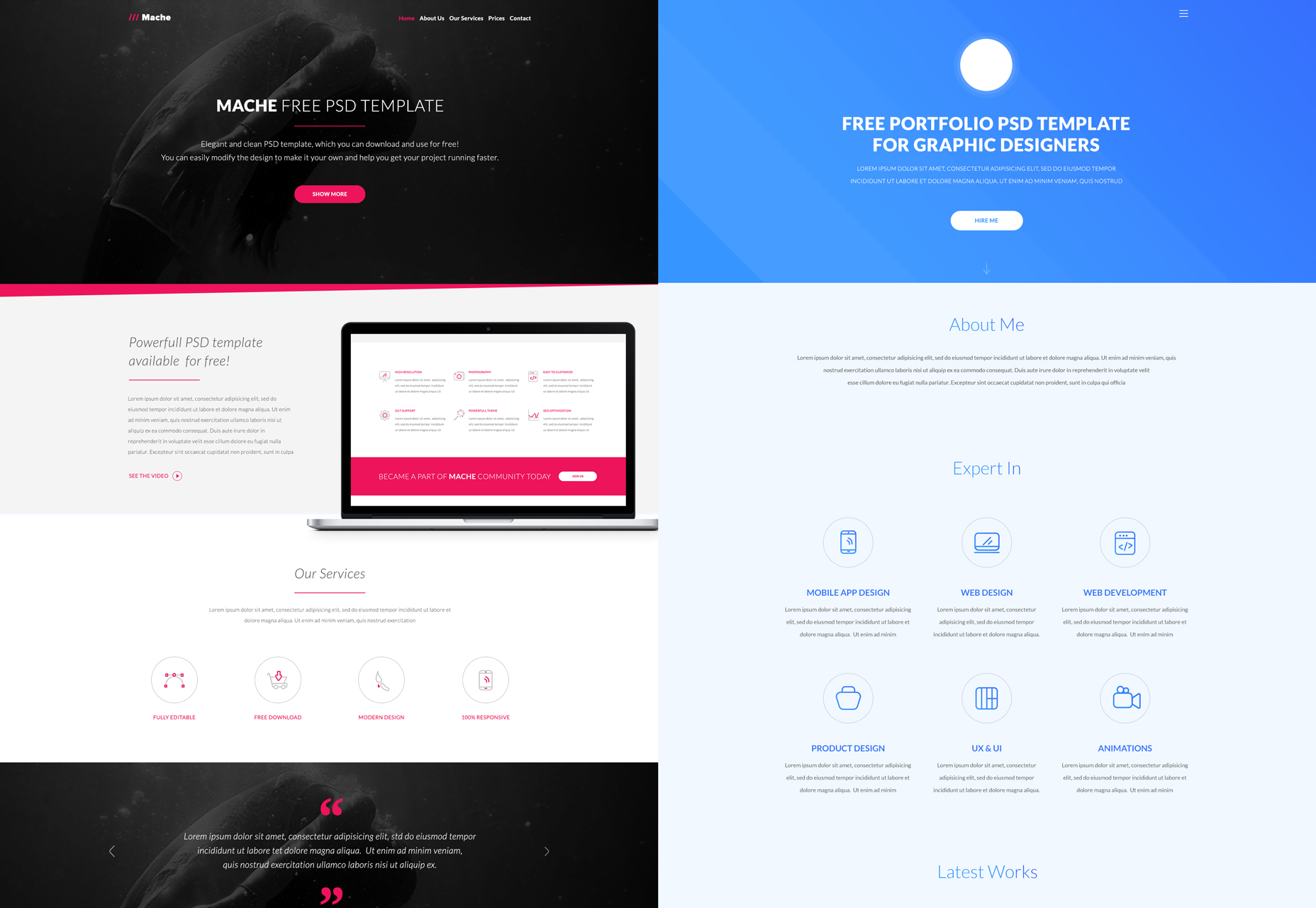 A Bundle of 10 PSD Web Templates