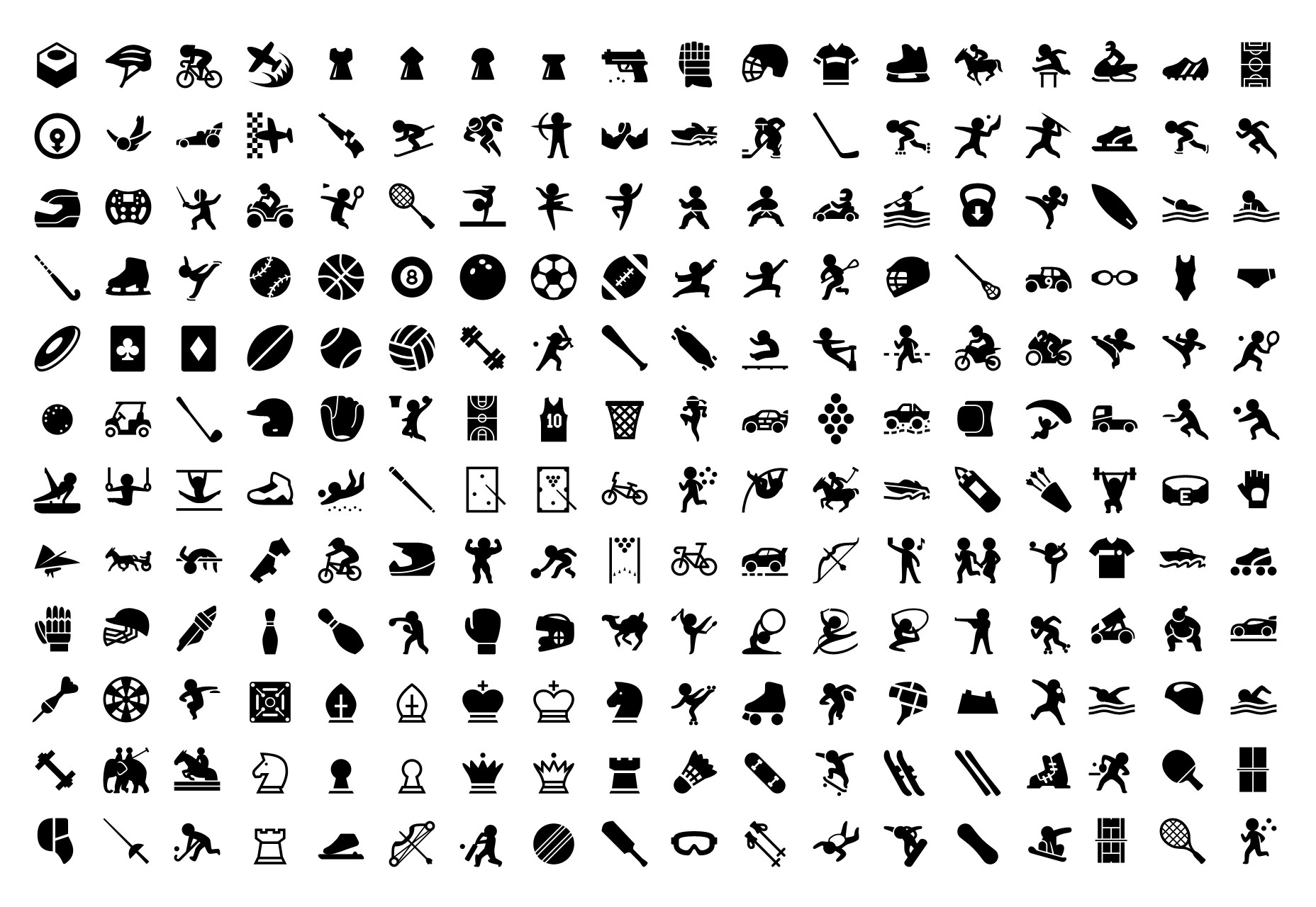 A Set of Over 5800 Filled Sport Icons