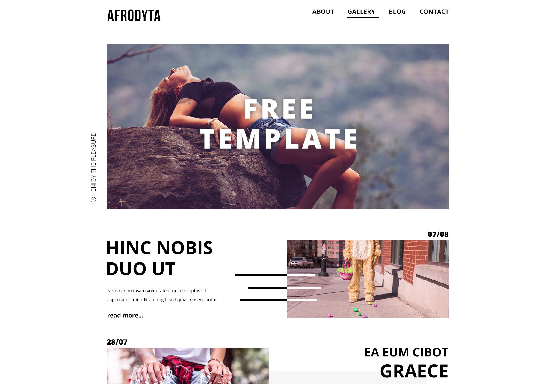 Afrodyta: Clean Creative PSD Template