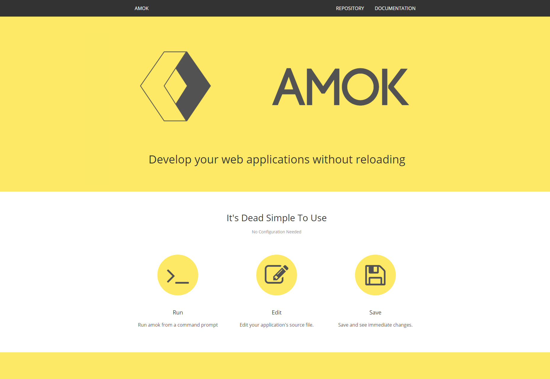 Amok: Develop Your Web Application Without Reloading