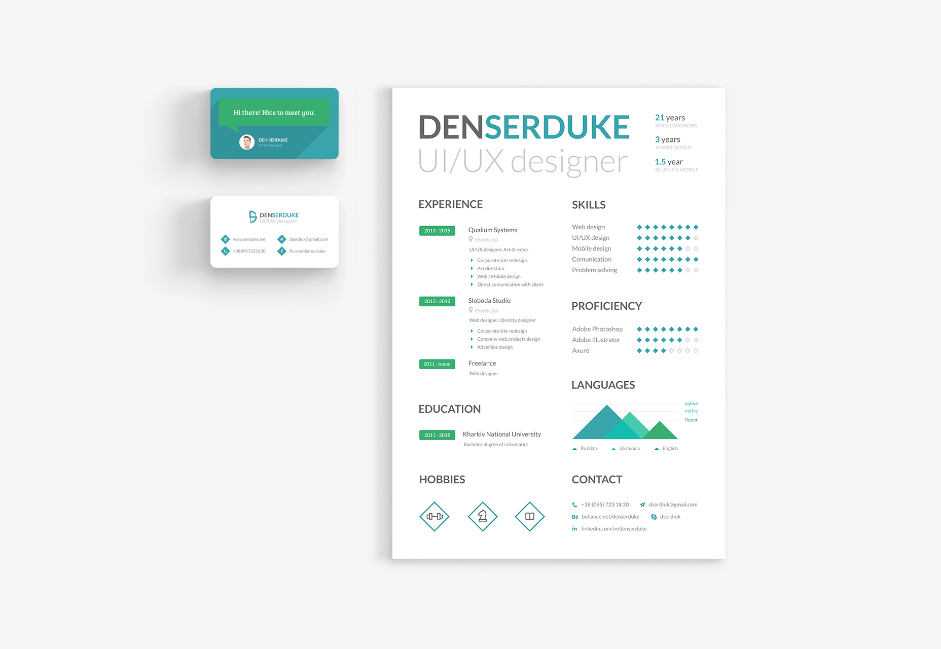 Free Resume & Business Card Template