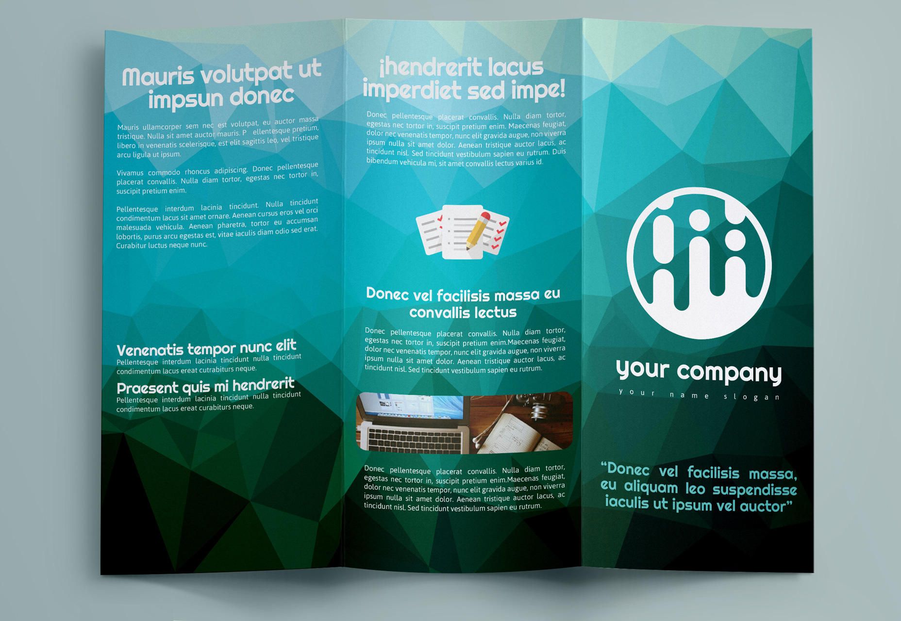 Geometric Brochure Trifold Template