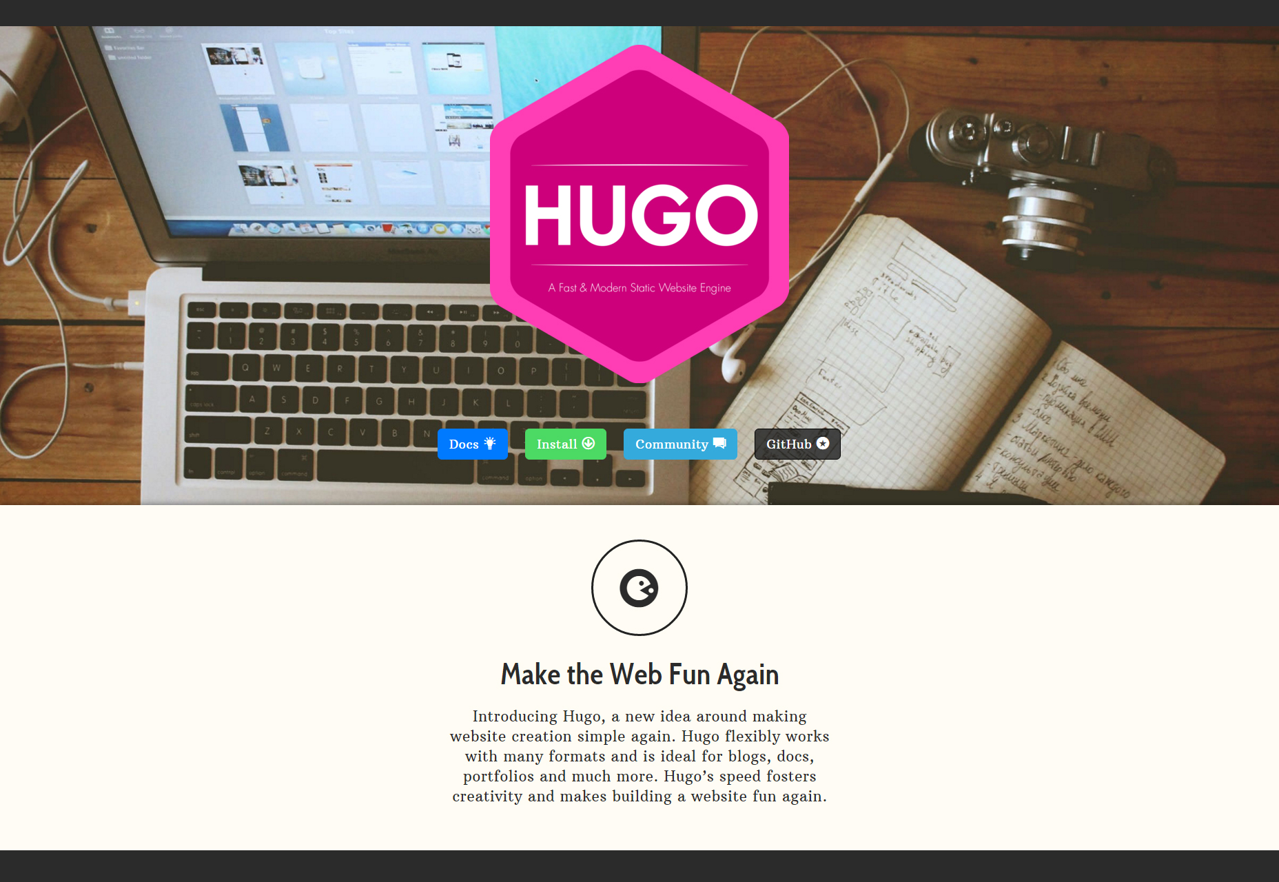 Hugo: A Fast and Modern Static Website Engine