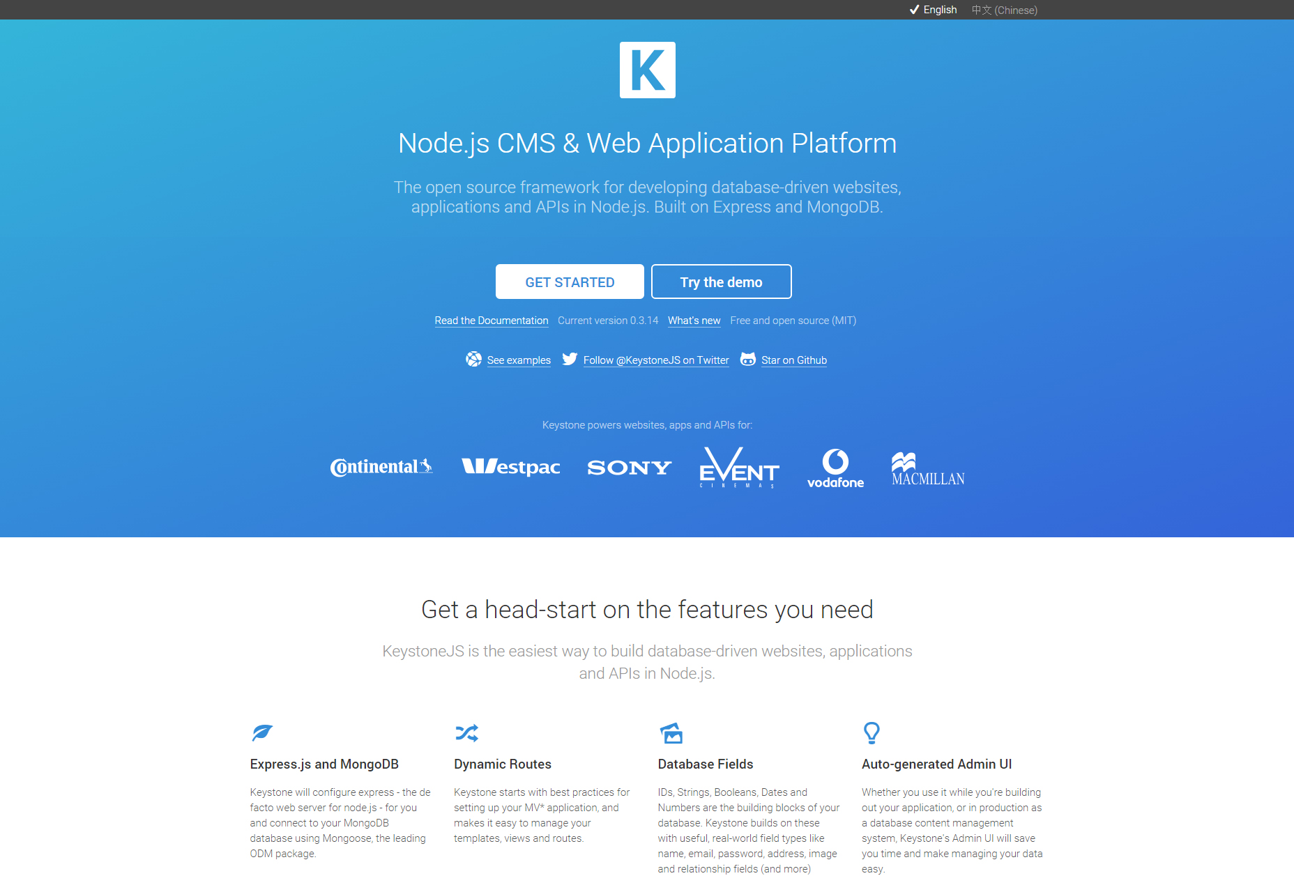 KeystoneJS: Node.js CMS and Web Application Platform