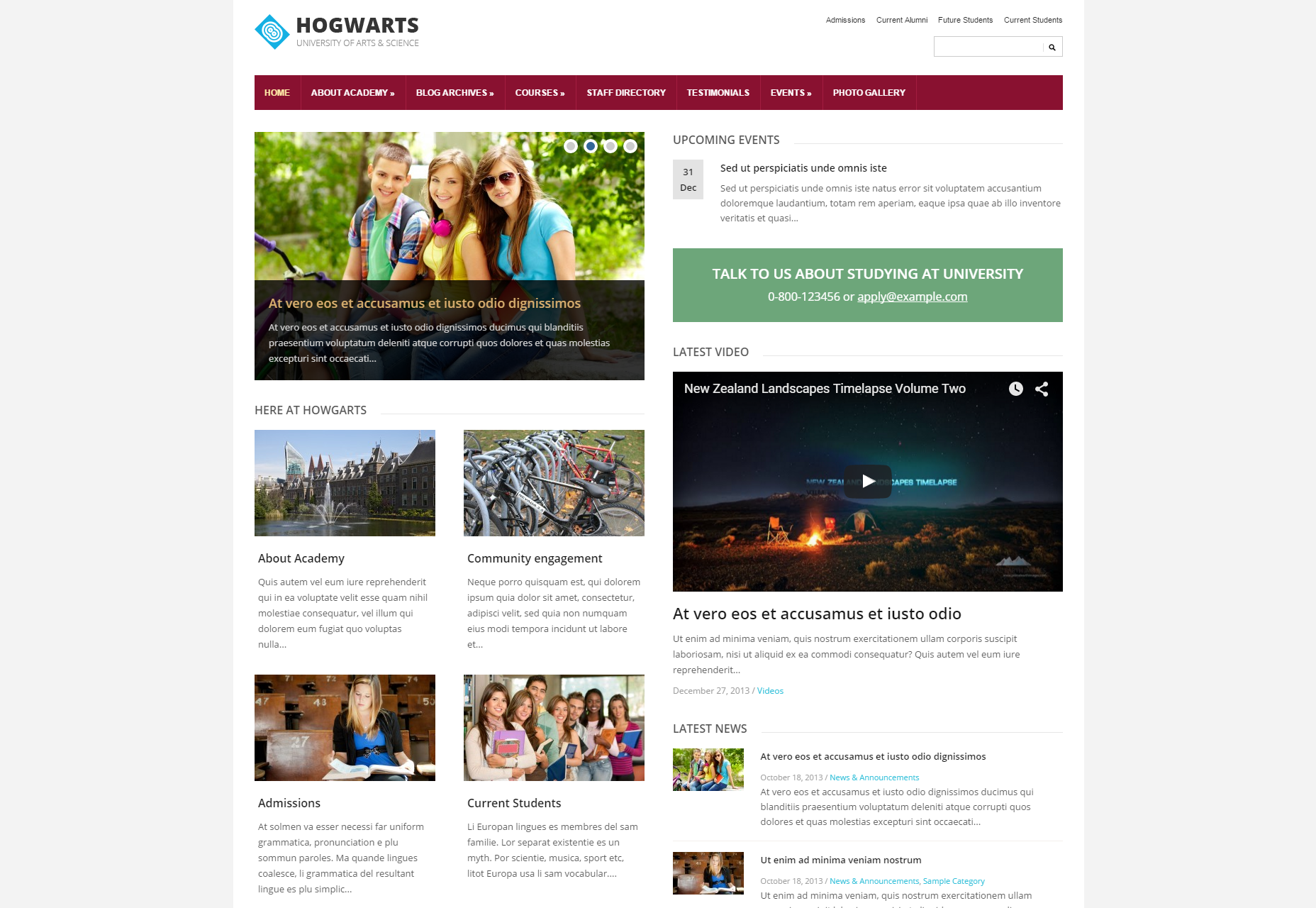 Lectura: Lite Corporate WordPress Theme
