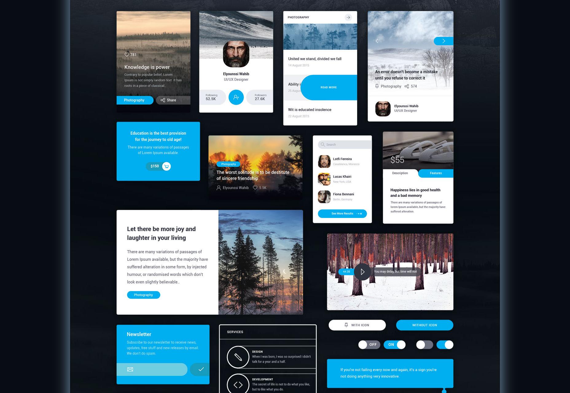 Mayssam: Minimal Style Web UI Kit