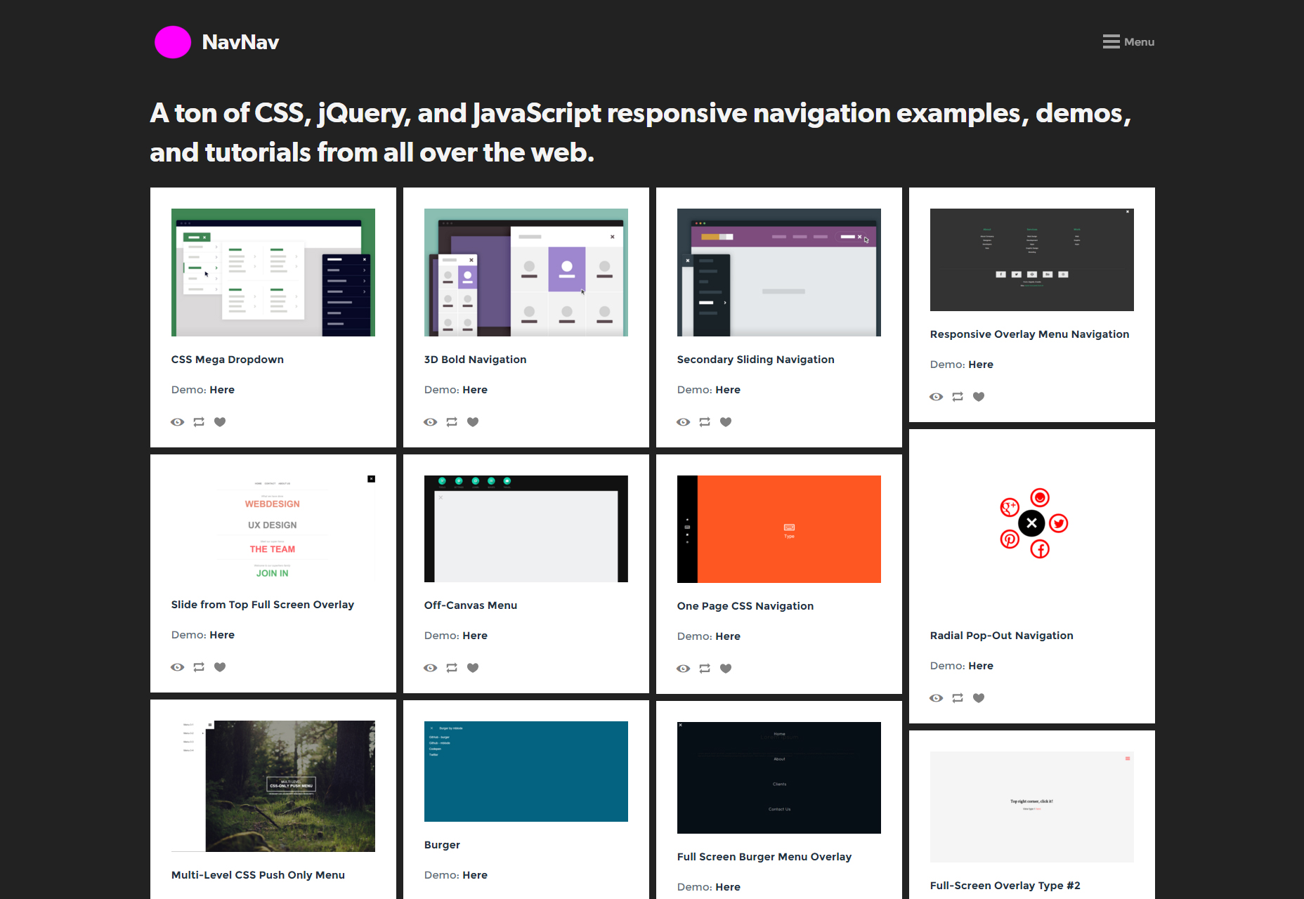 NavNav: Responsive Navigation Bar & Menu Resources