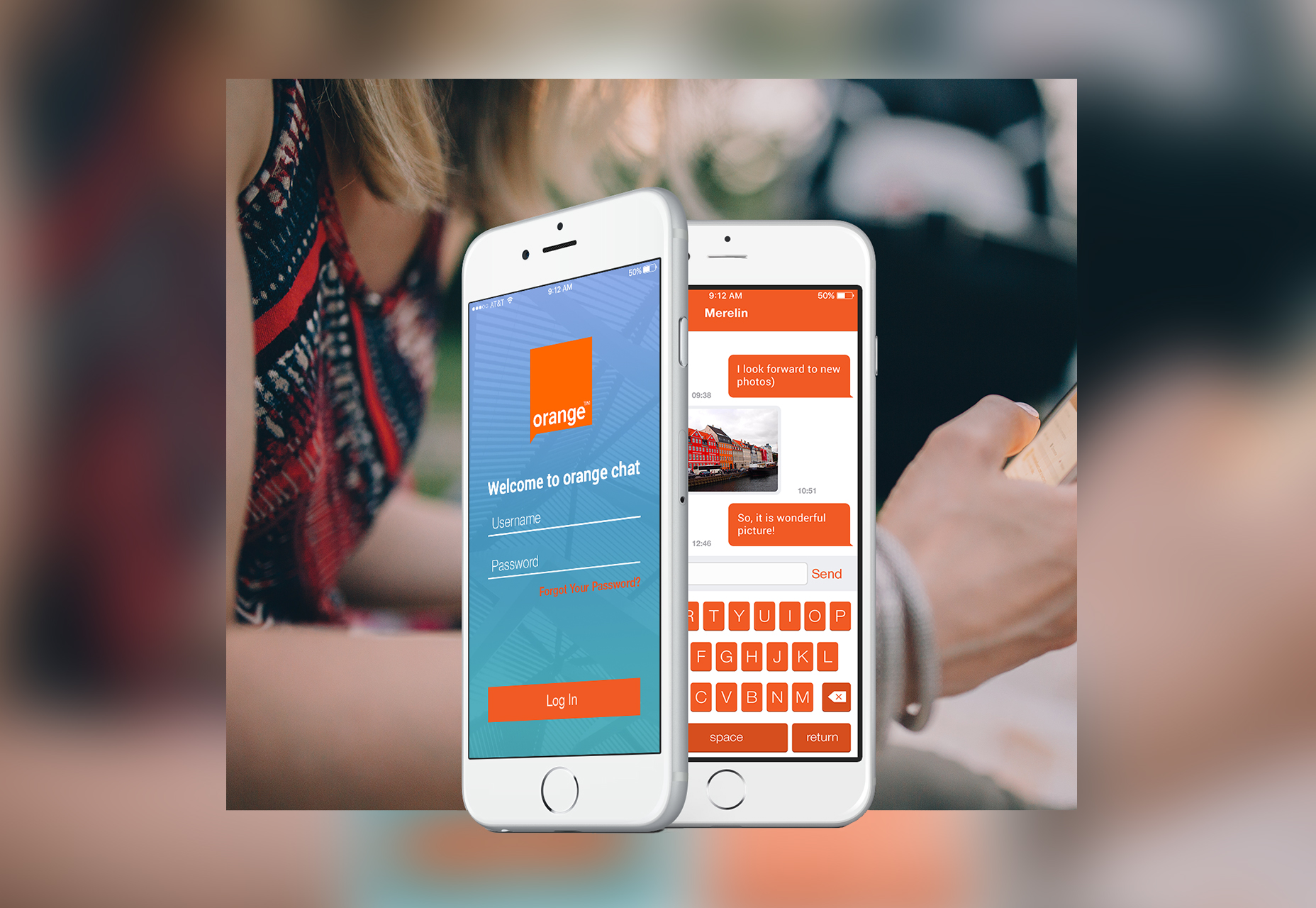 Orange Mobile Chat UI Kit