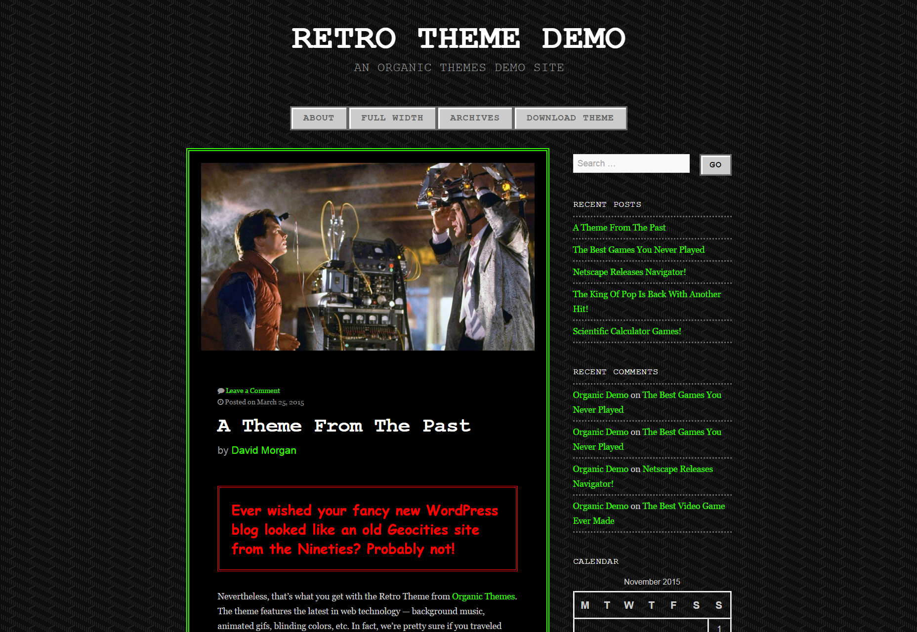Retro Theme: Classic Videogame-inspired WordPress Themes