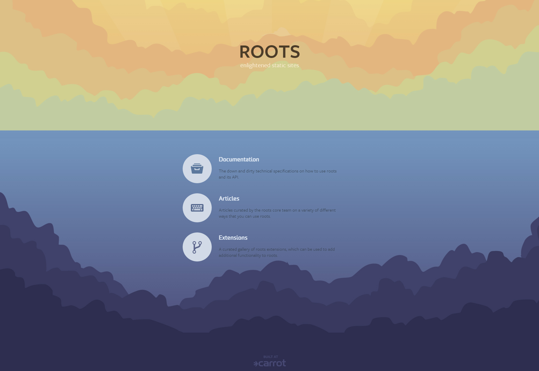 Roots: Static Front-end Sites Generator