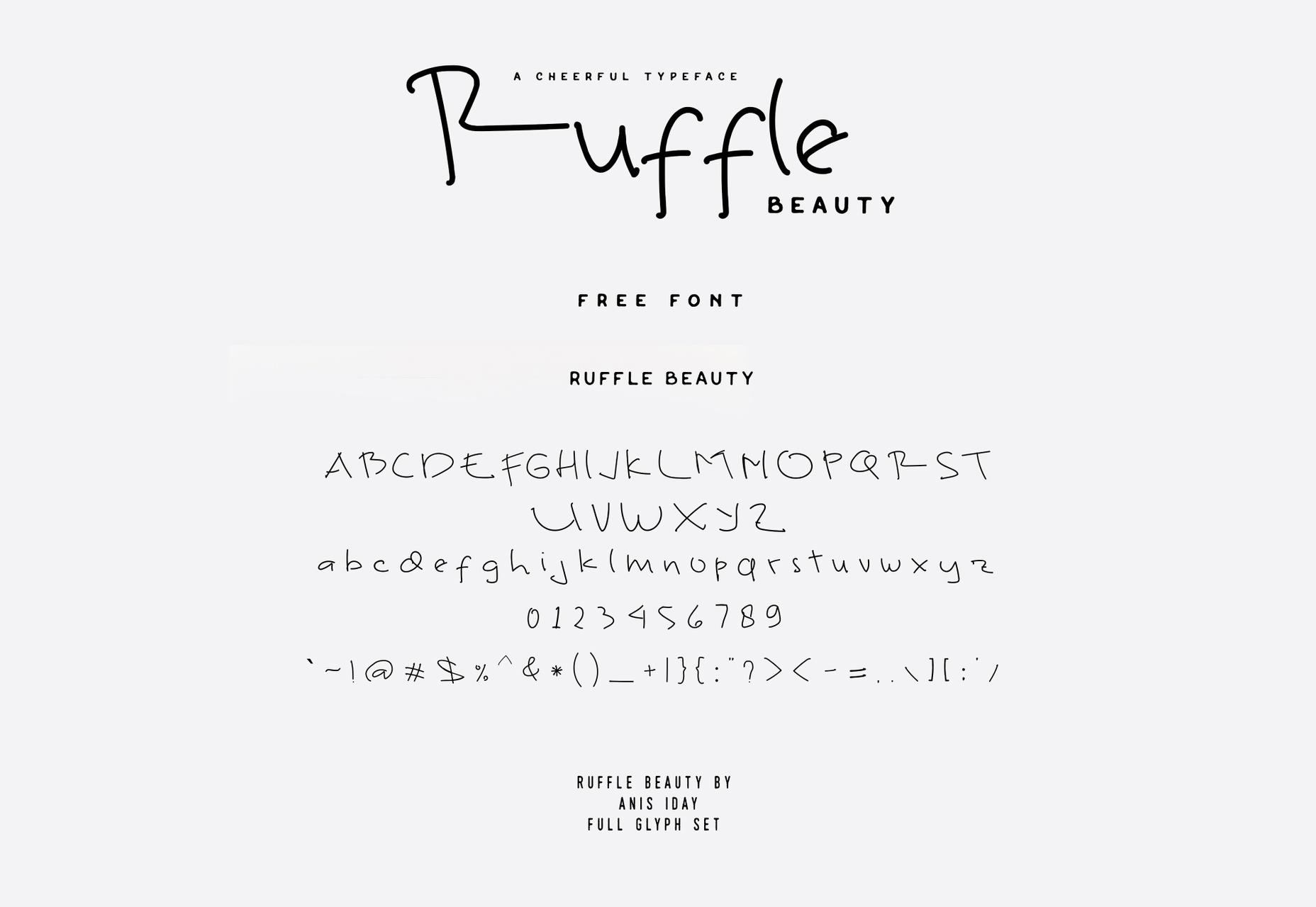 Ruffle: Thin Line Handwritten Font
