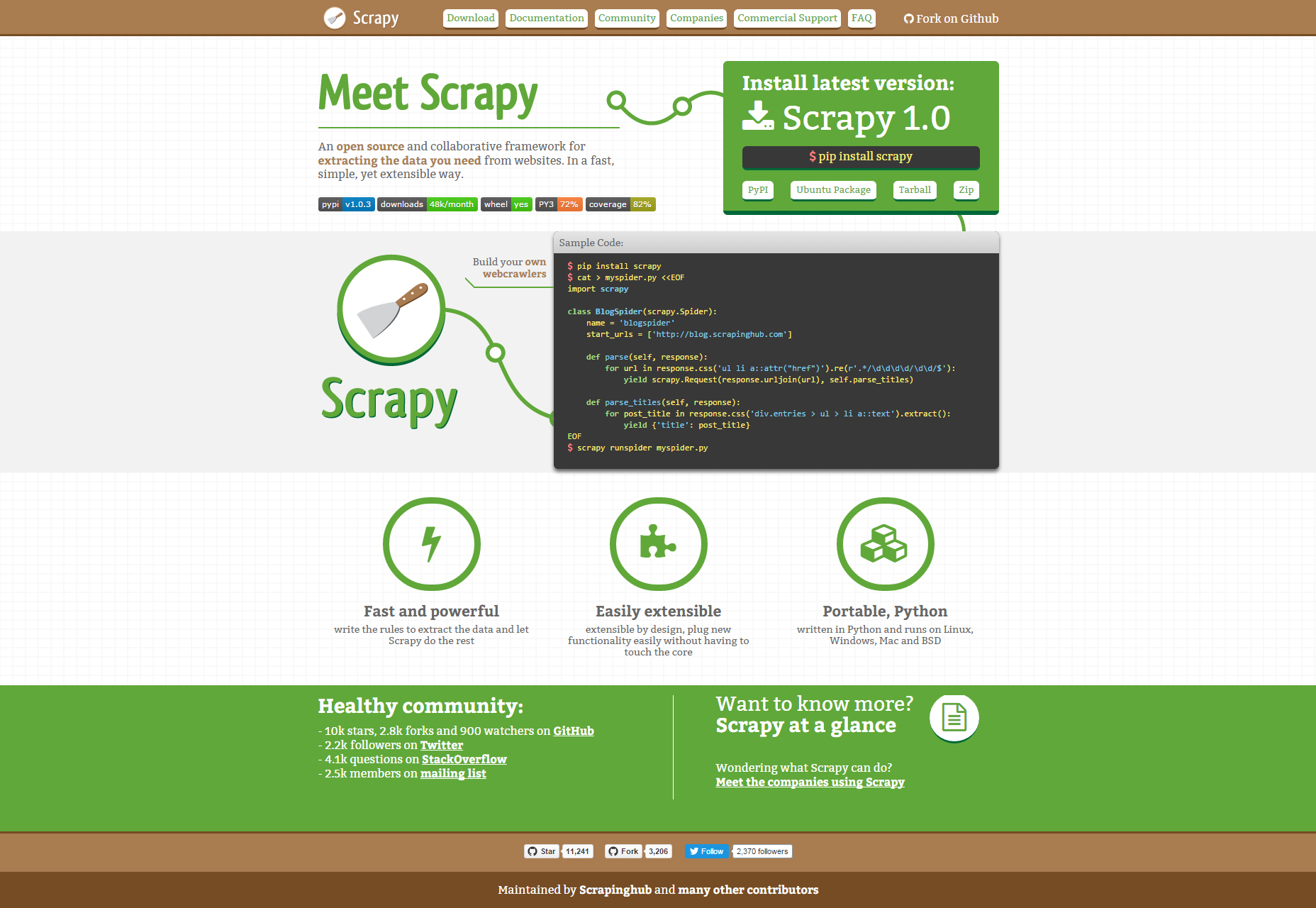 Scrapy: Powerful Scraping and Web Crawling Framework