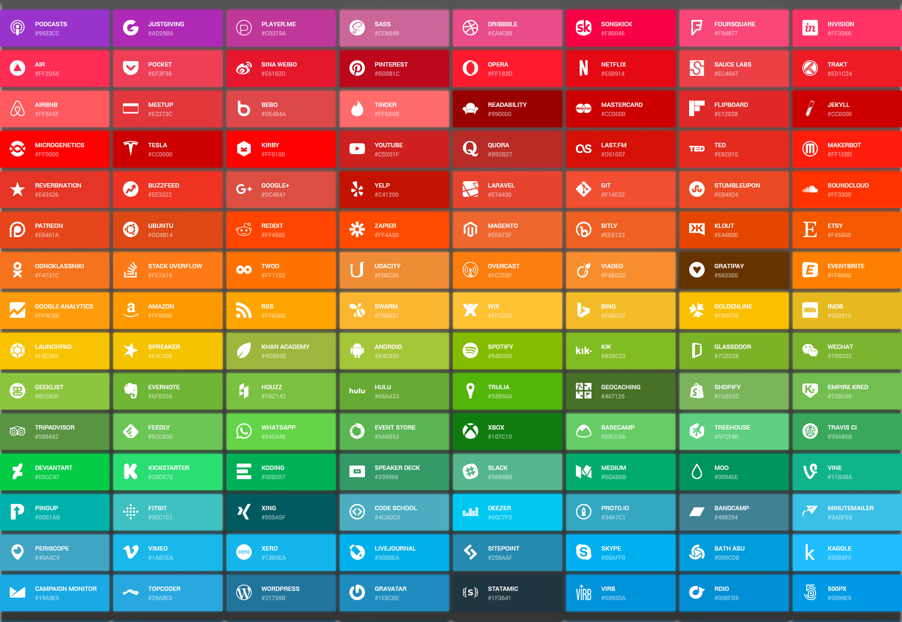 Simple Icons: A Collection of SVG Icons & Respective Colors