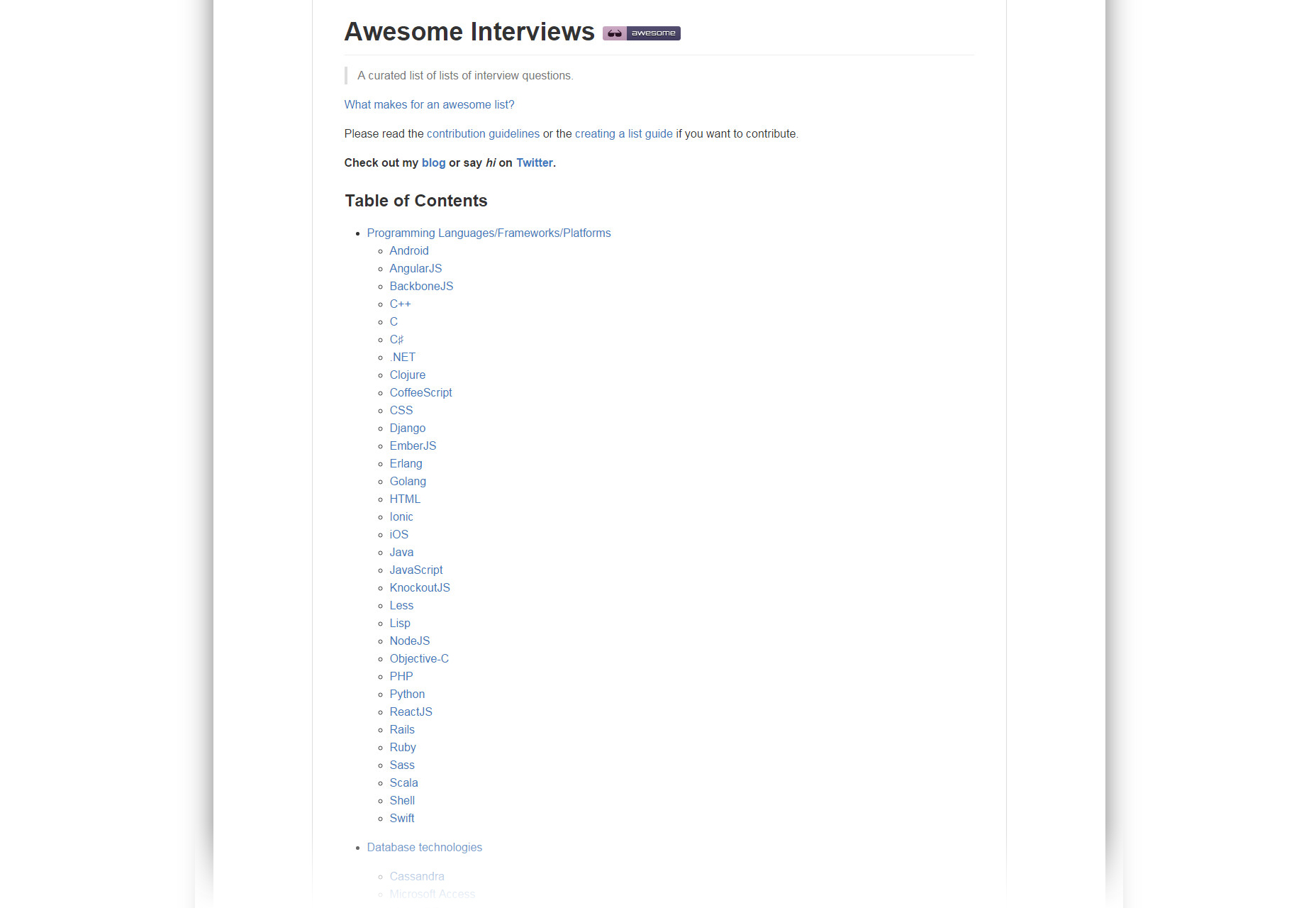 Awesome Interviews: Open Source Development Interviews Collection