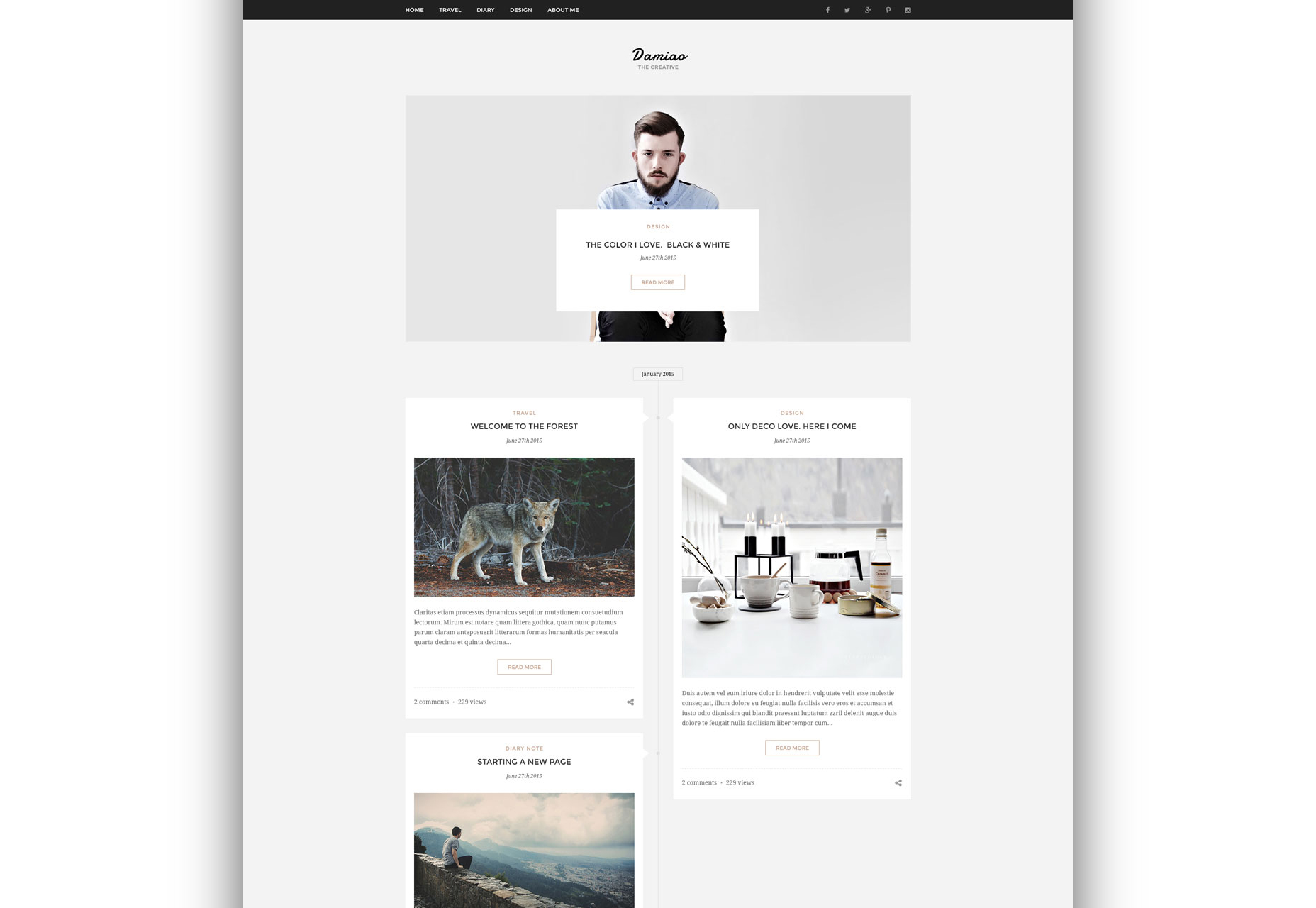 Damiao: Clean and Minimal Multi-layout PSD Template