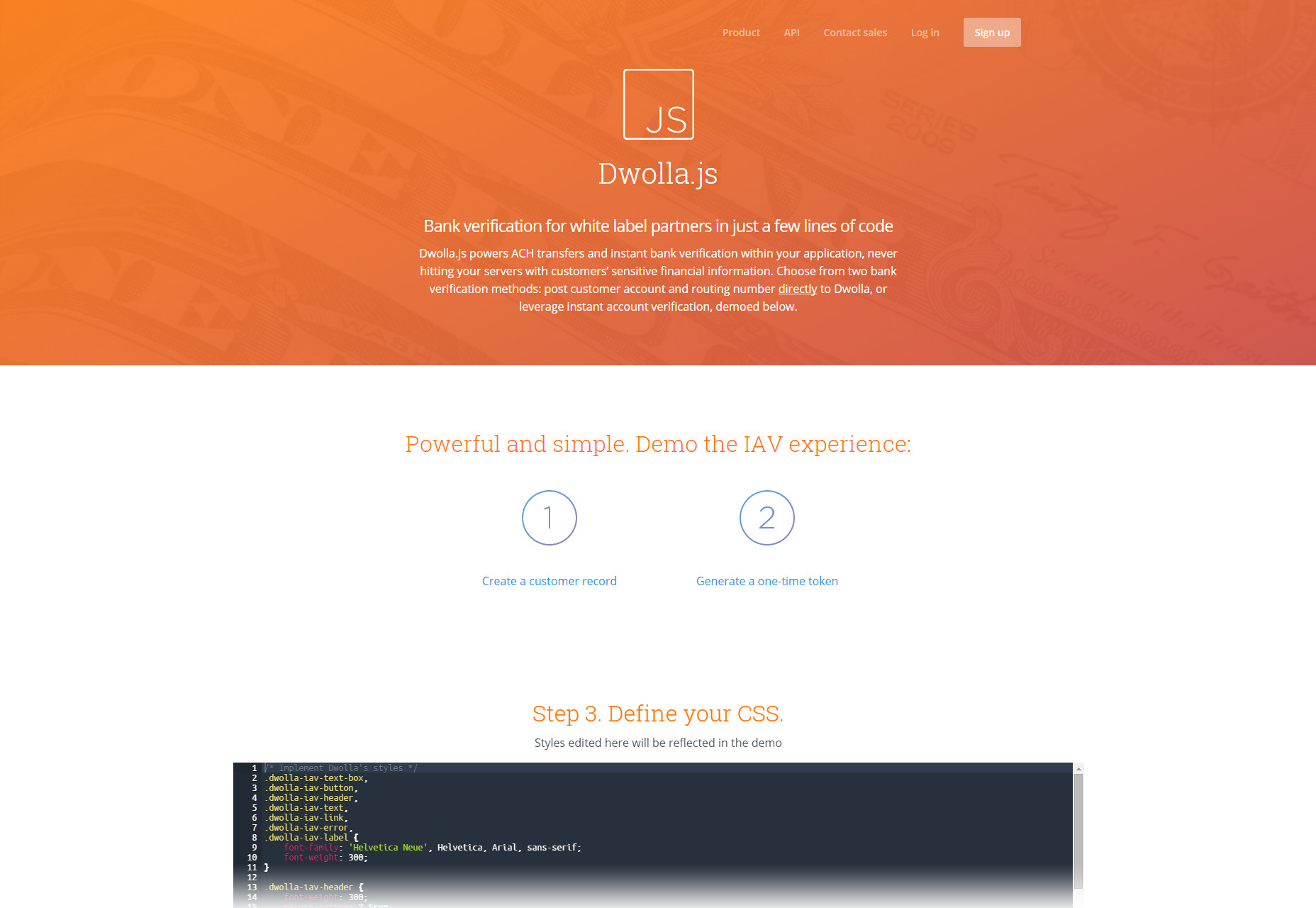 Dwolla.js: Short White Label Partner Bank Verification