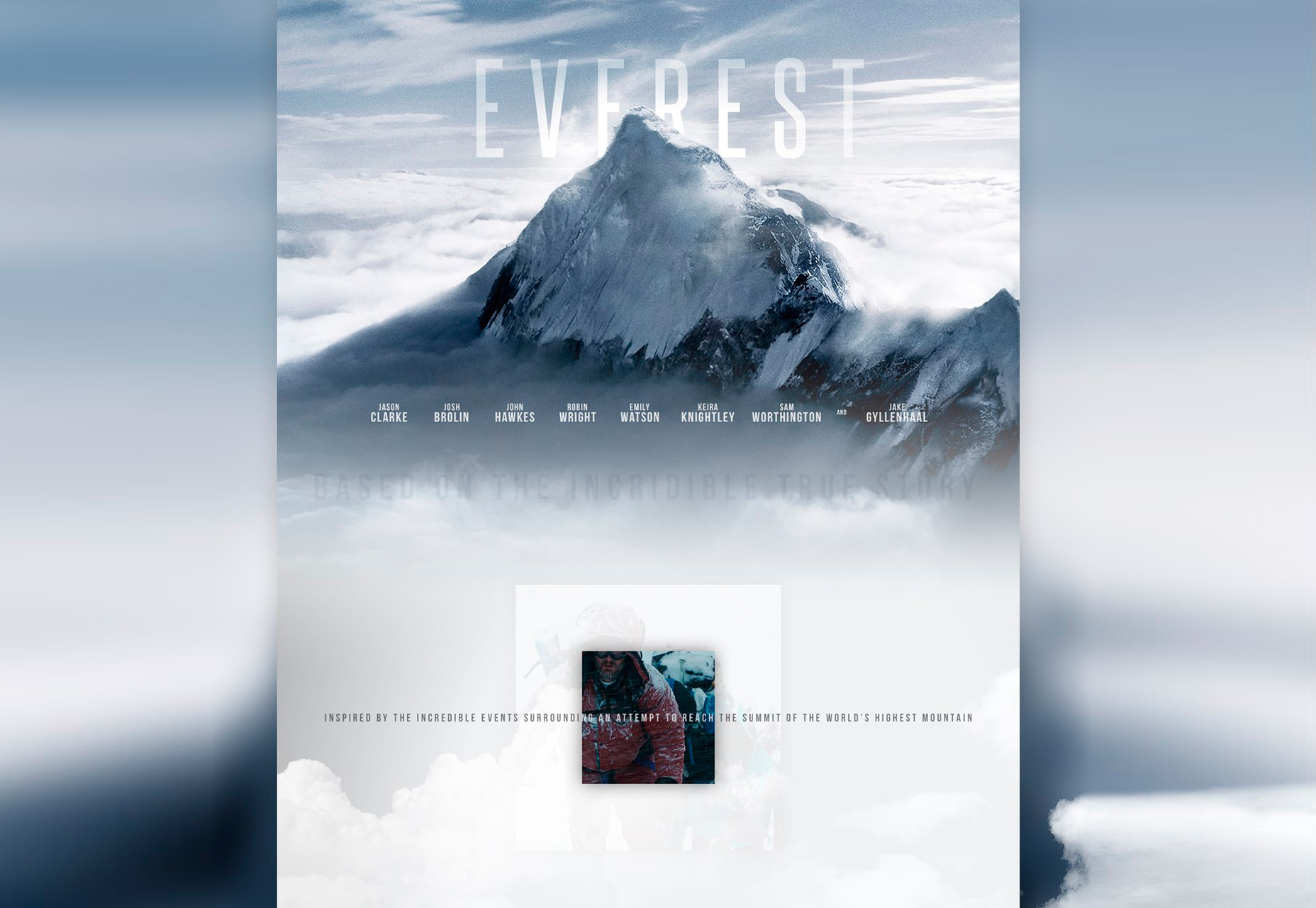 Everest: Movie-Inspired PSD Web Template