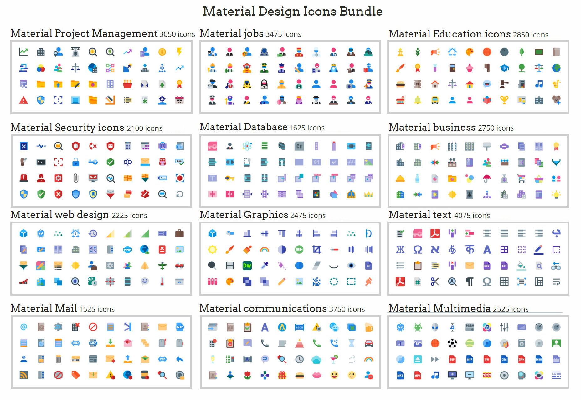 Humongous Multi-set Material Icons Bundle