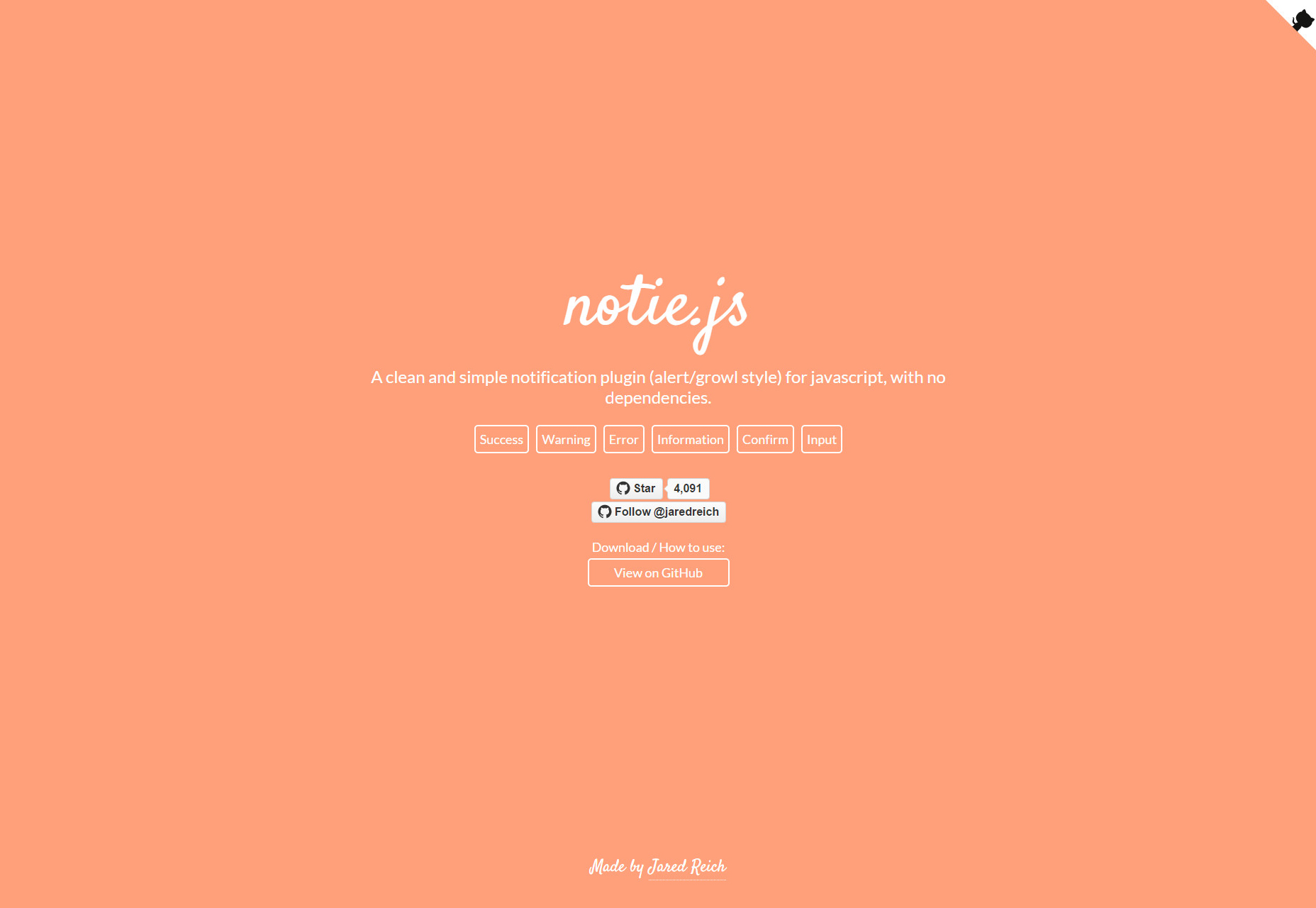 Notie.js: Simple Dependency-less Notification Plugin