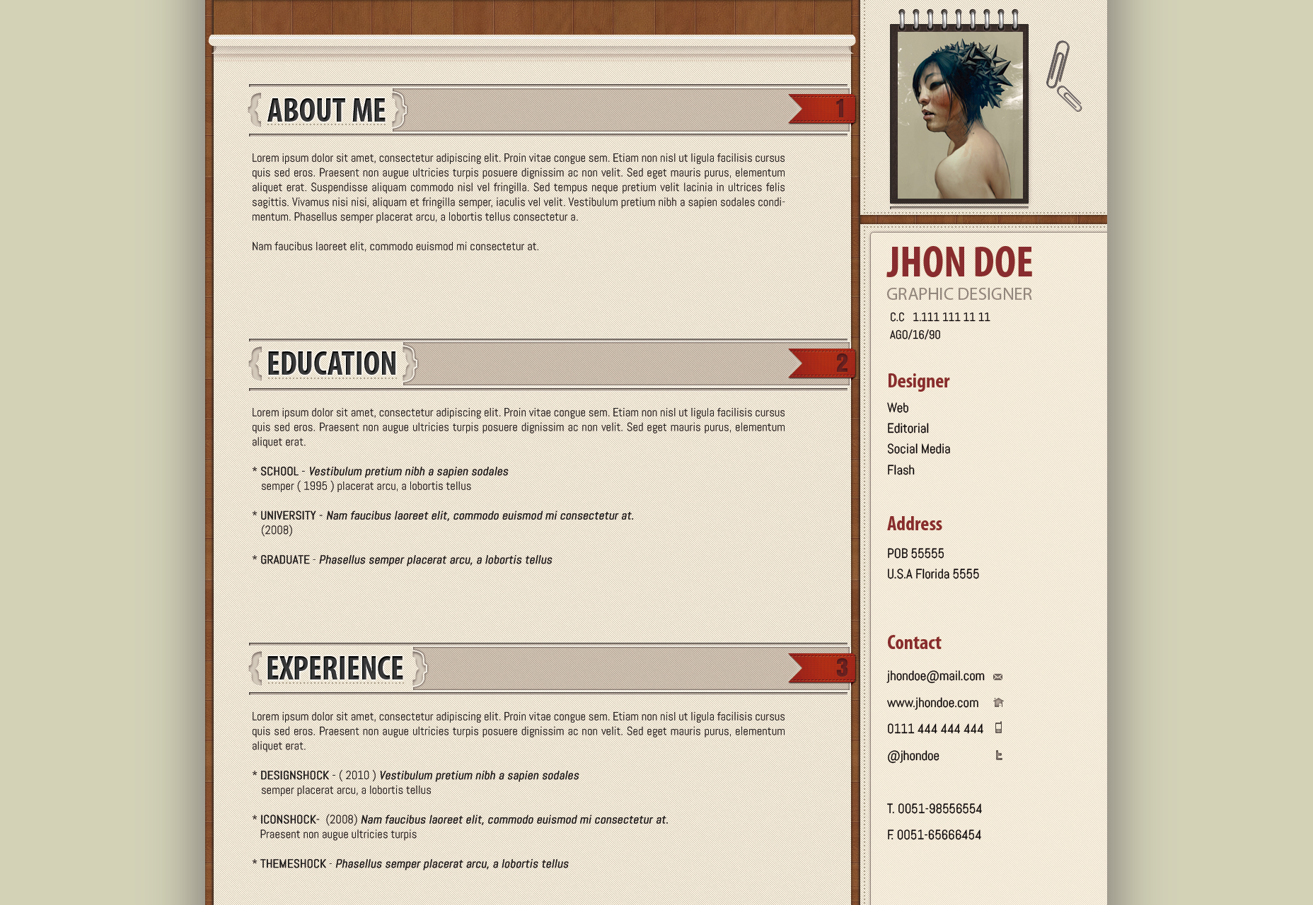 Office Suited Resume Template