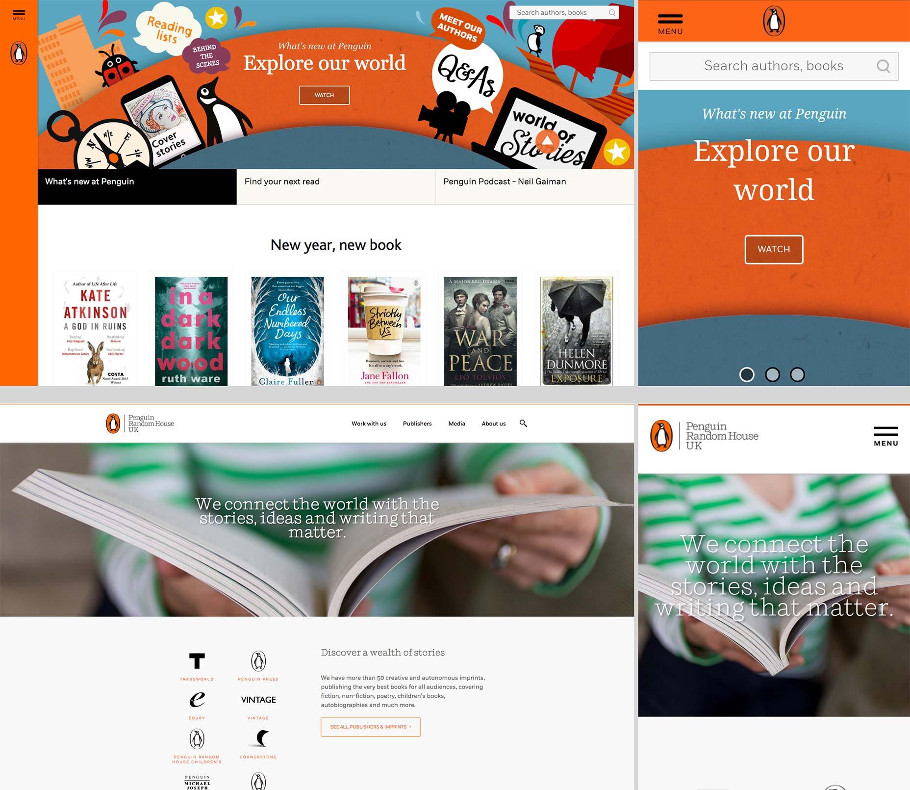 Penguin Random House redesigns its UK sites | Webdesigner Depot
