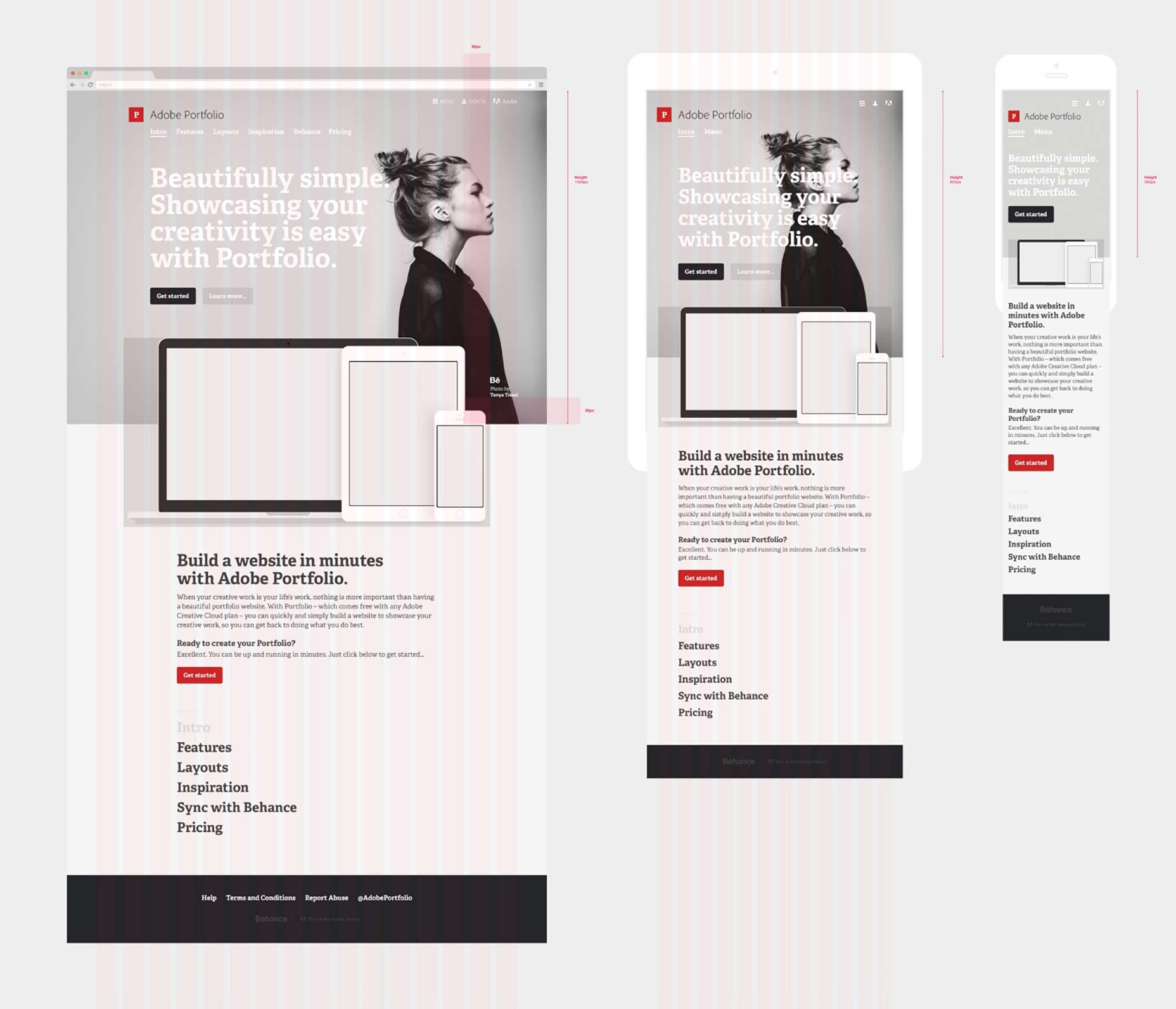 Designing adobe portfolio webdesigner depot for Product design marketing