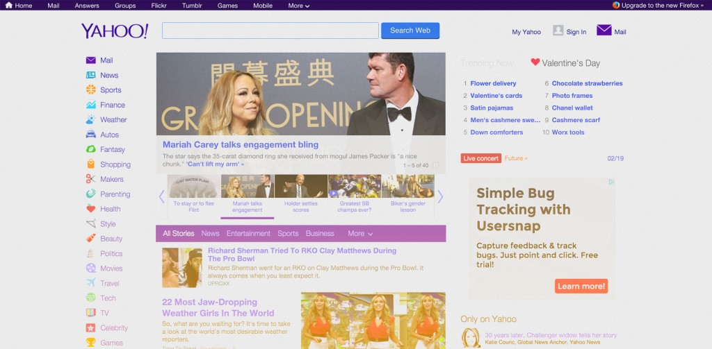 Yahoo unveils its latest redesign