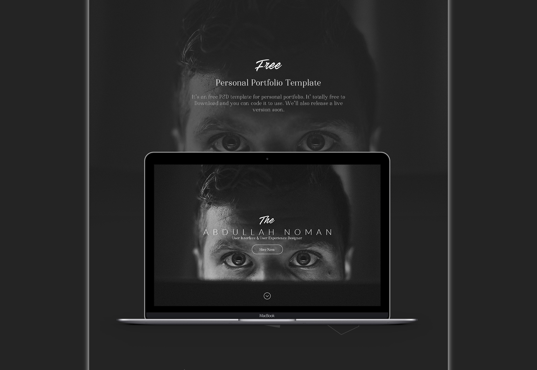 Abdullah: Smooth Dark PSD Web Template
