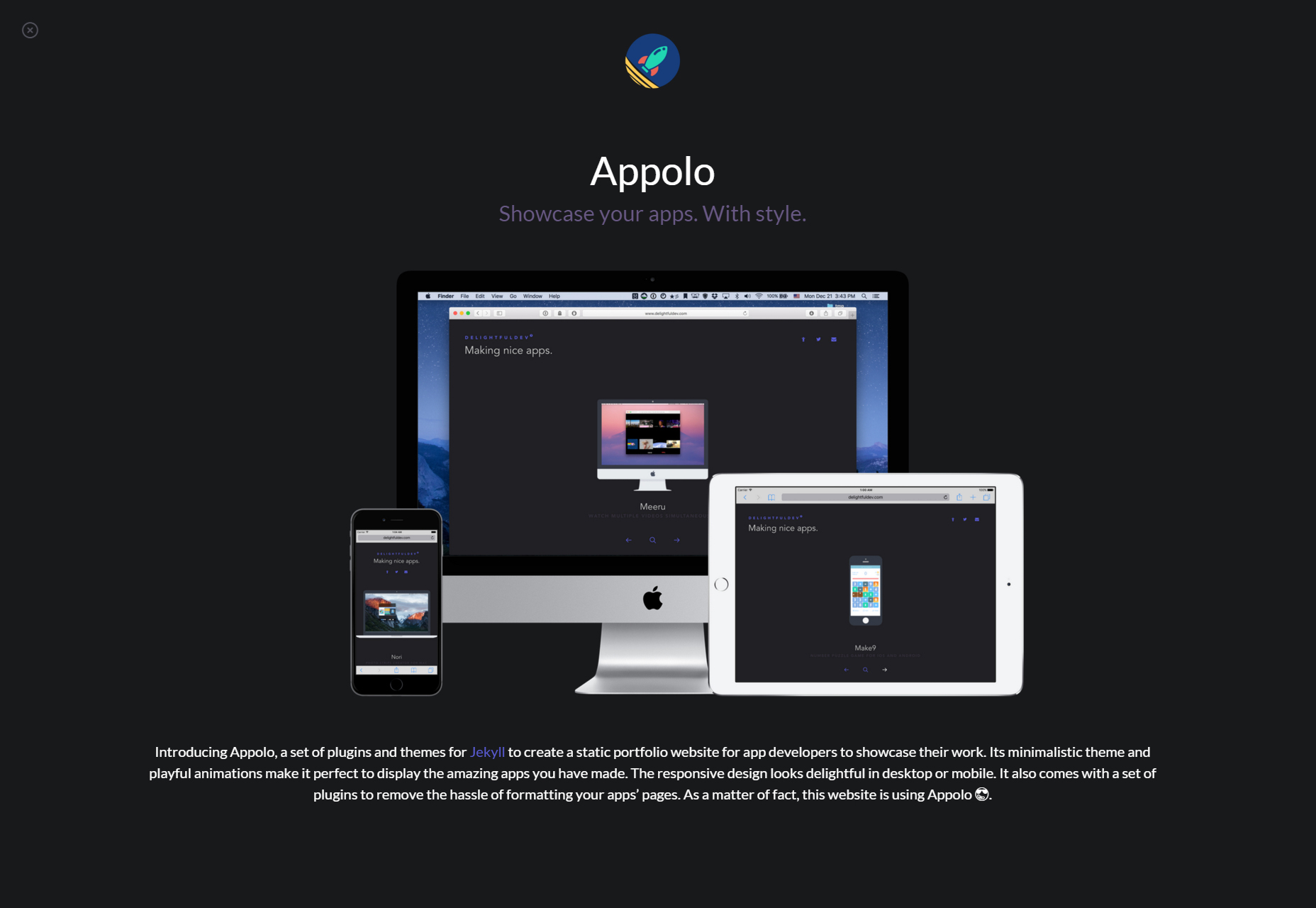 Appolo: Stylish Application Showcasing