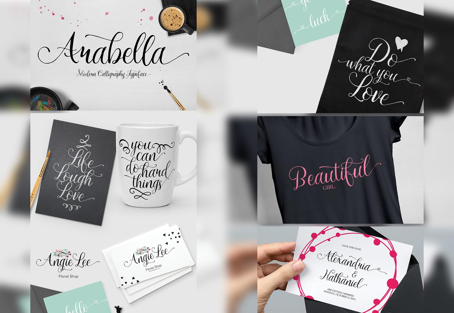 Arabella: Fancy Handwritten Script Font