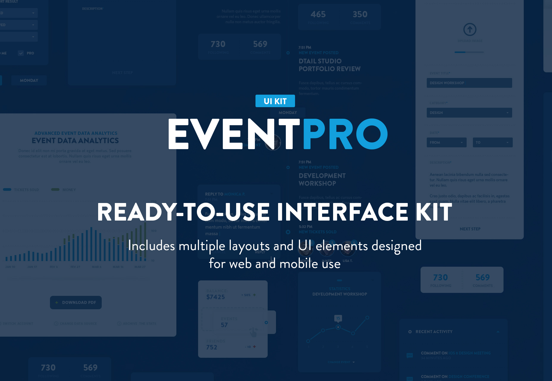 EventPro: Modern Blue UI Kit