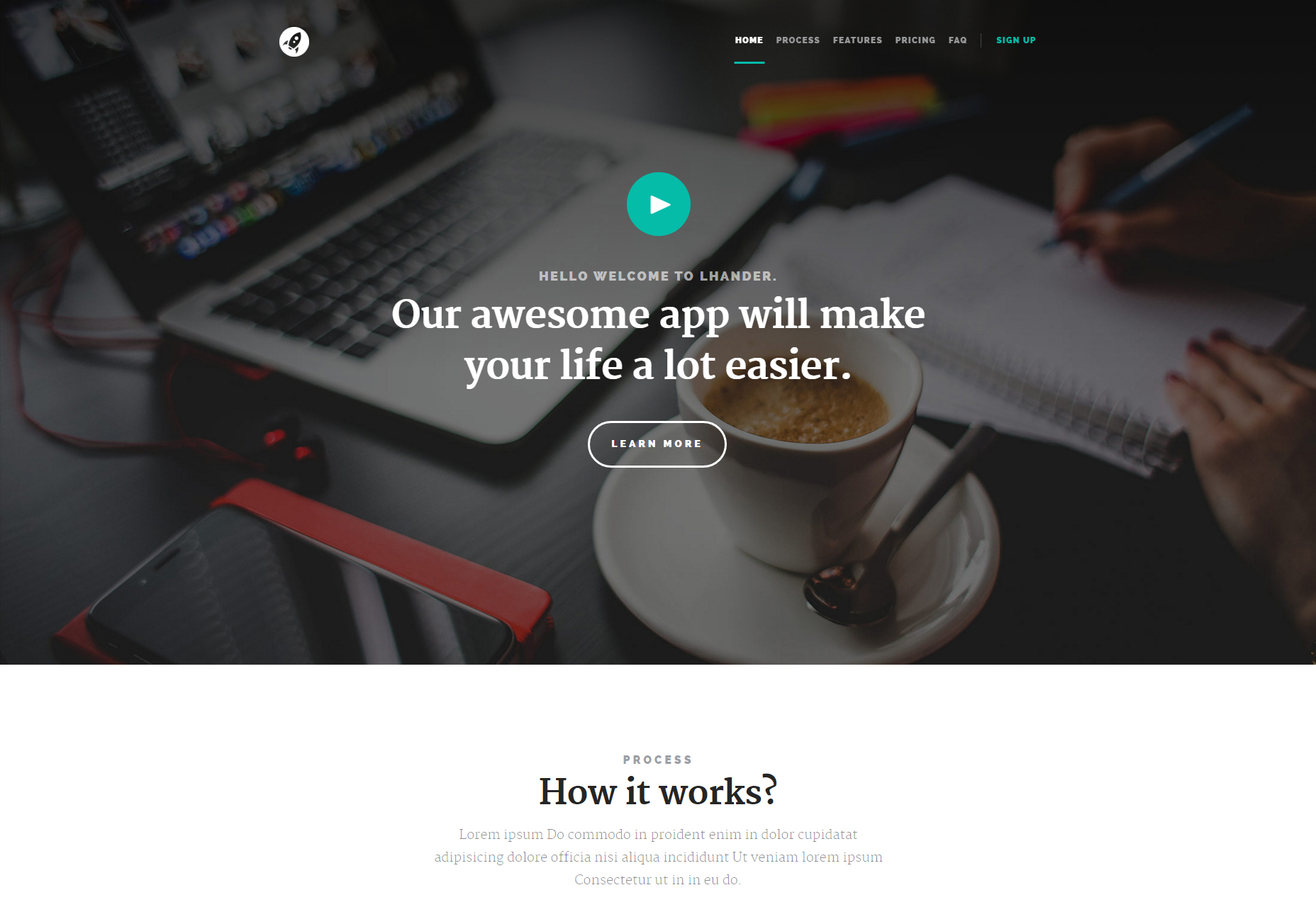 Amazing Html Welcome Page Template Contemporary - Entry Level ...