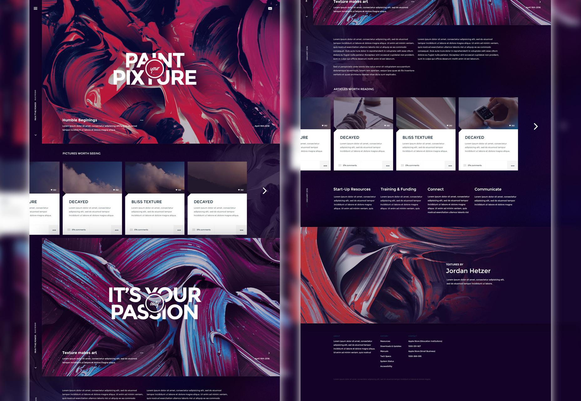 Pixture: Artistic PSD Website Template